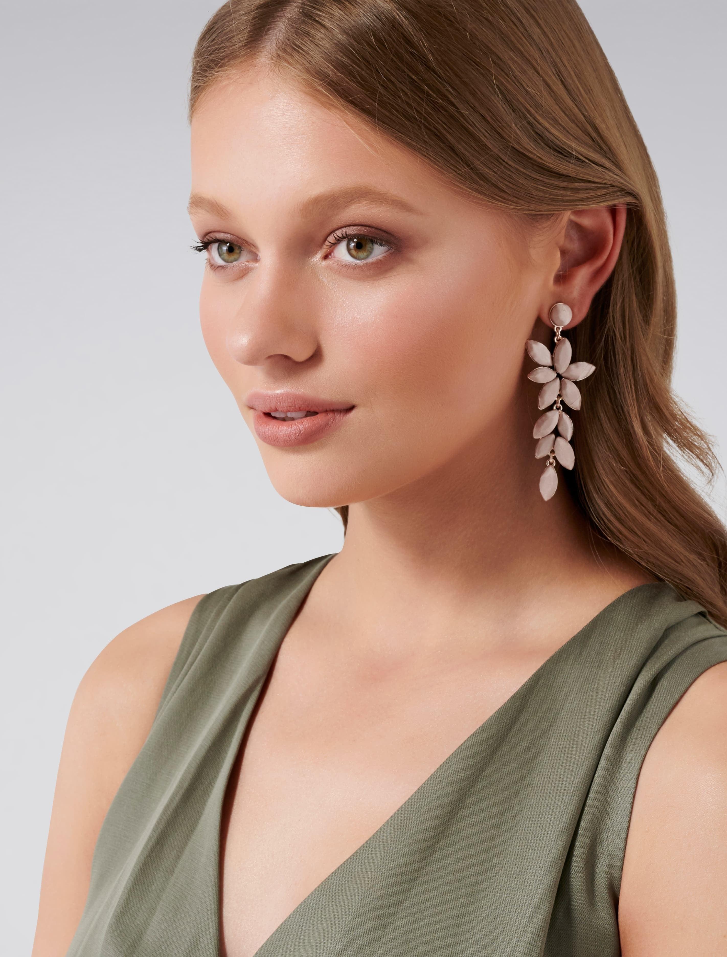 Ever New Vera Marquis Satin Stone Drop Earrings - Blush