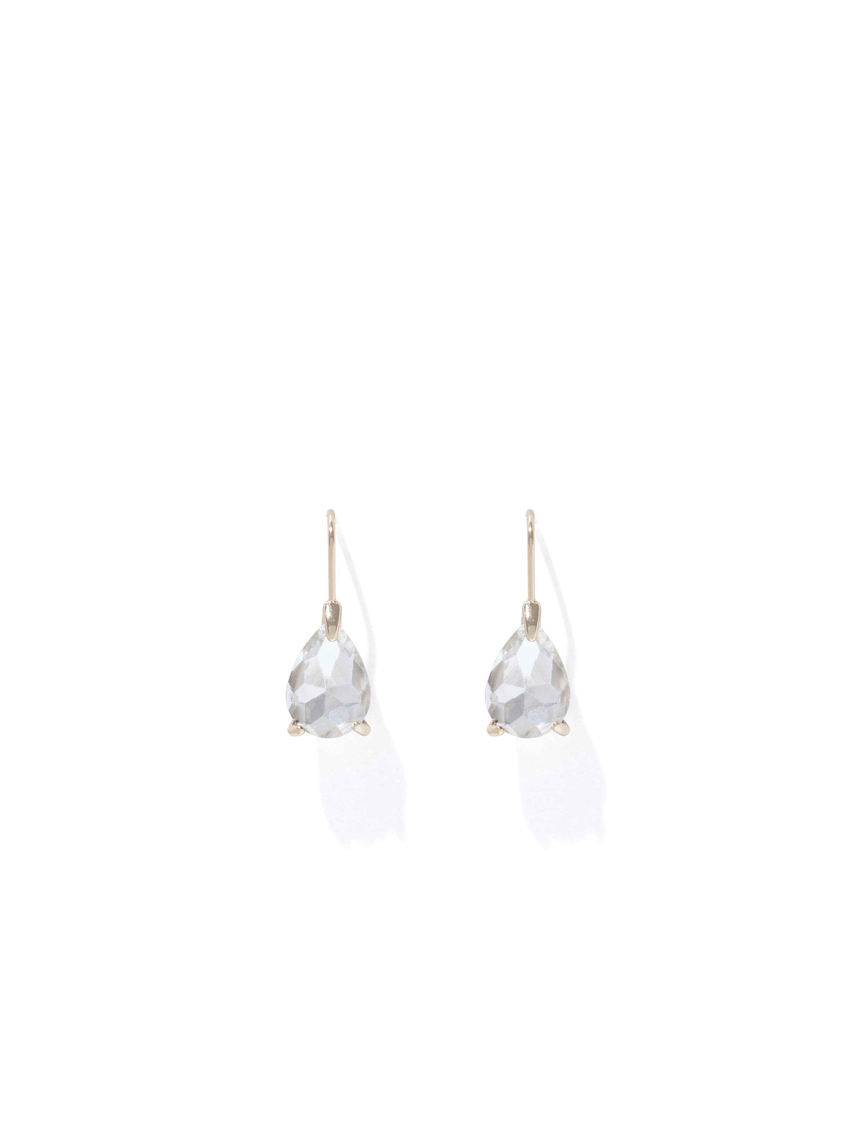 Ever New Zelda Pear Stone Small Drop Earrings - Gold