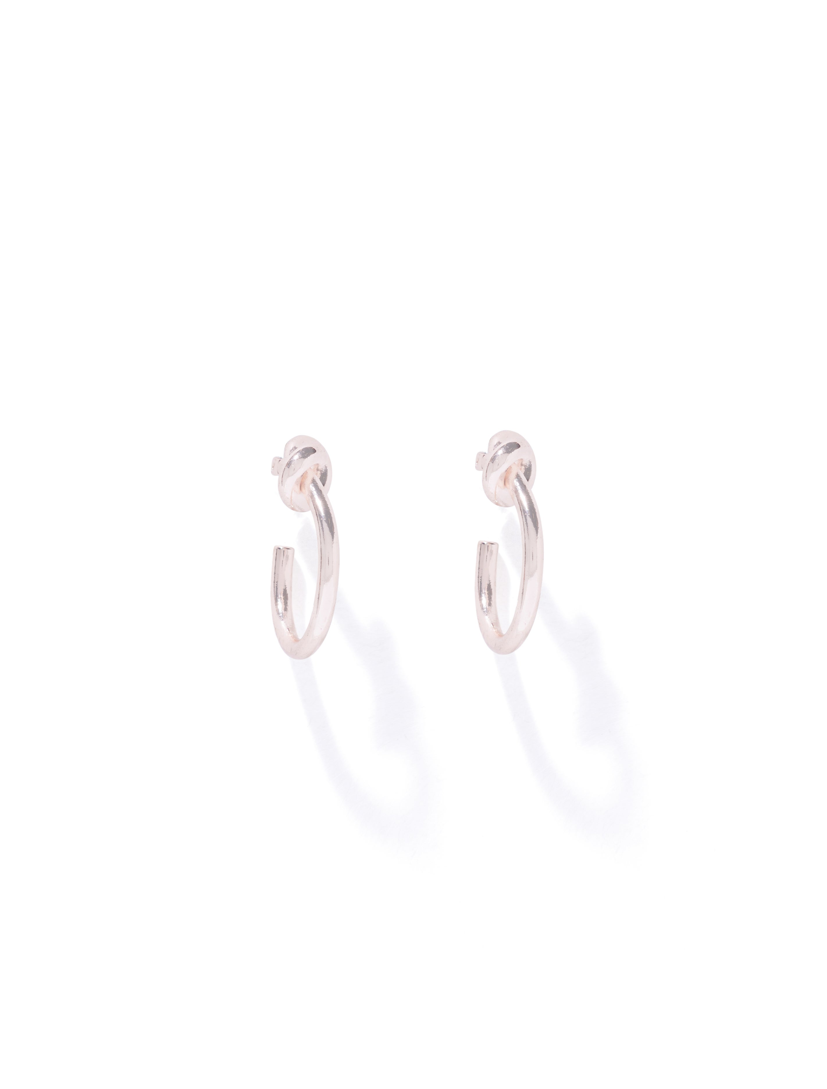 Ever New Nala Knot Small Hoop Earrings - Rose Gold