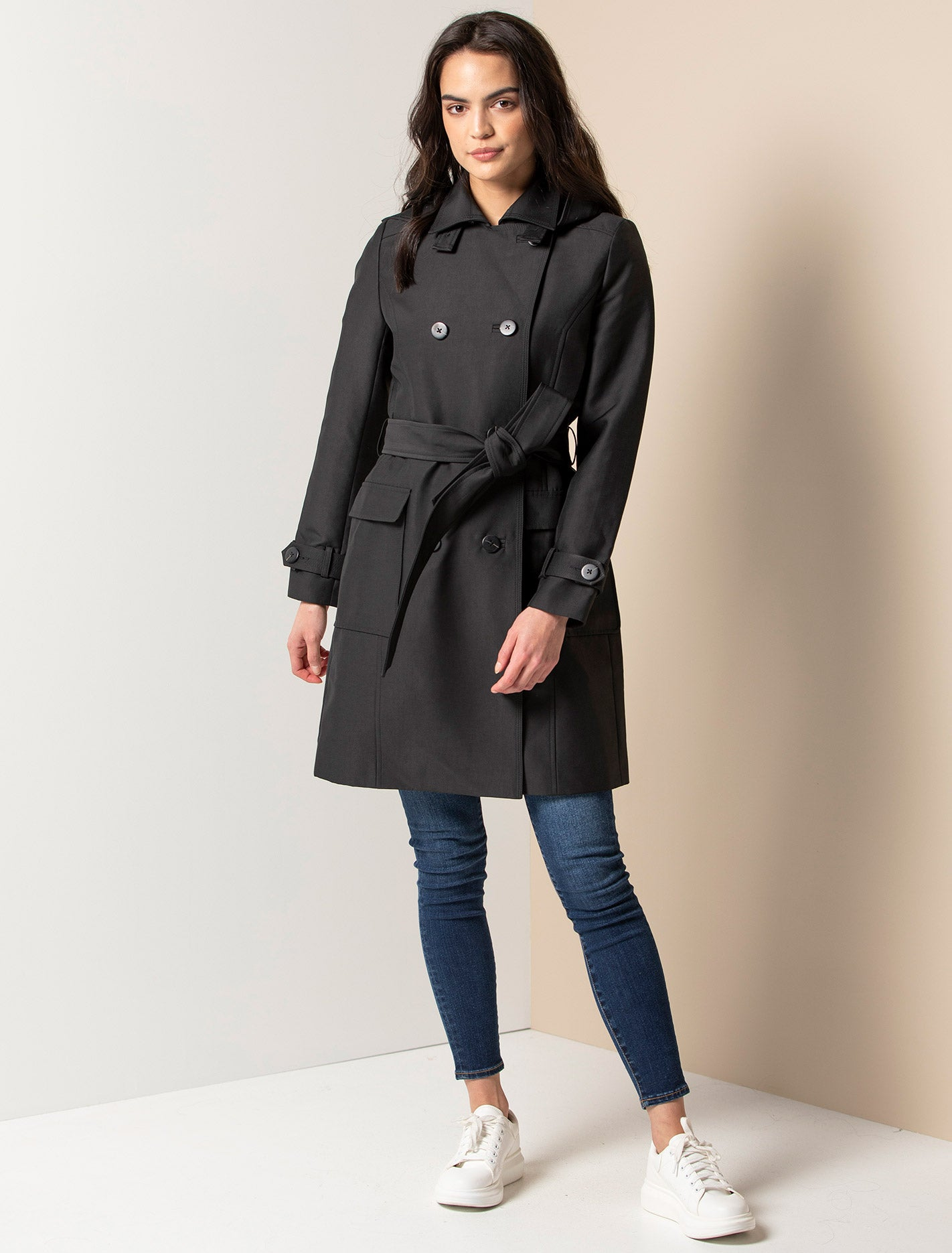 Ever New Jennie long trench - Black