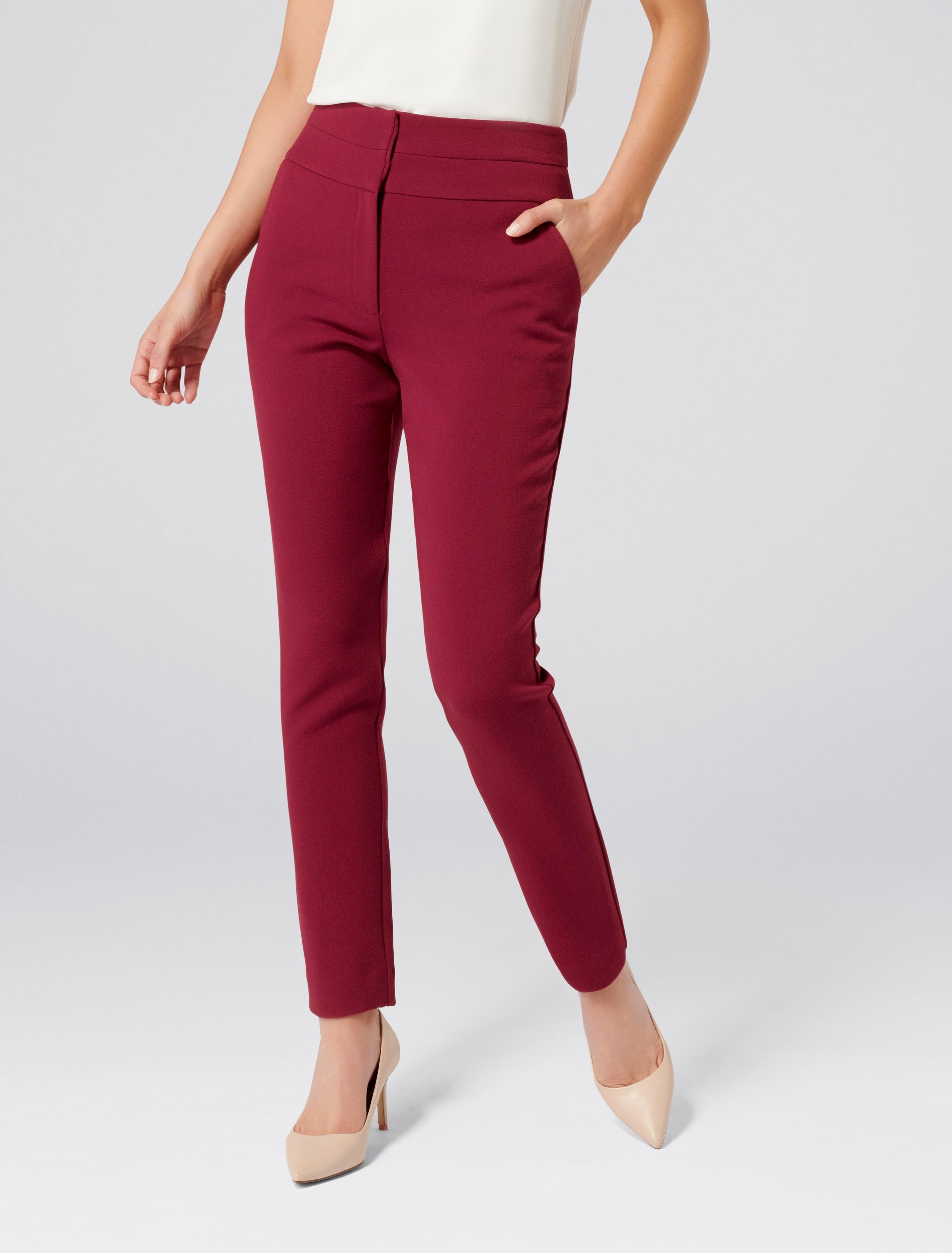 Ever New Gina High Waist Full Length Pants - Lisbon Red