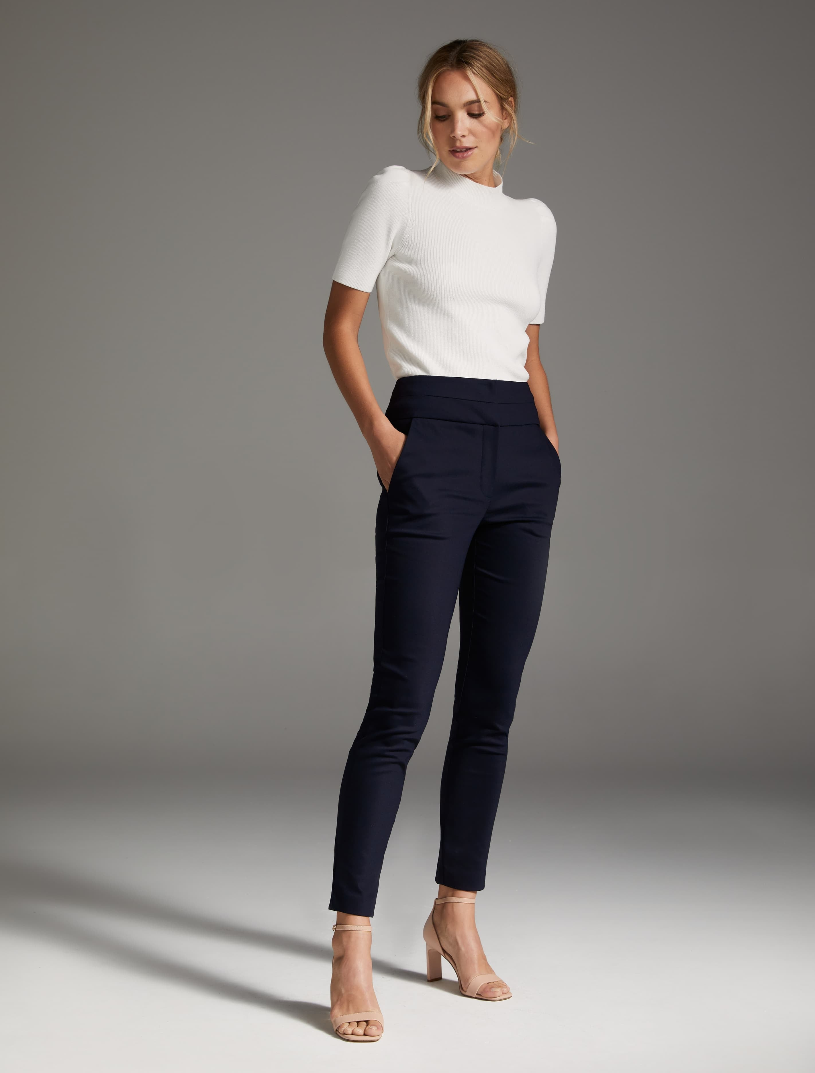 Ever New Georgia High Waist Full Length Pants