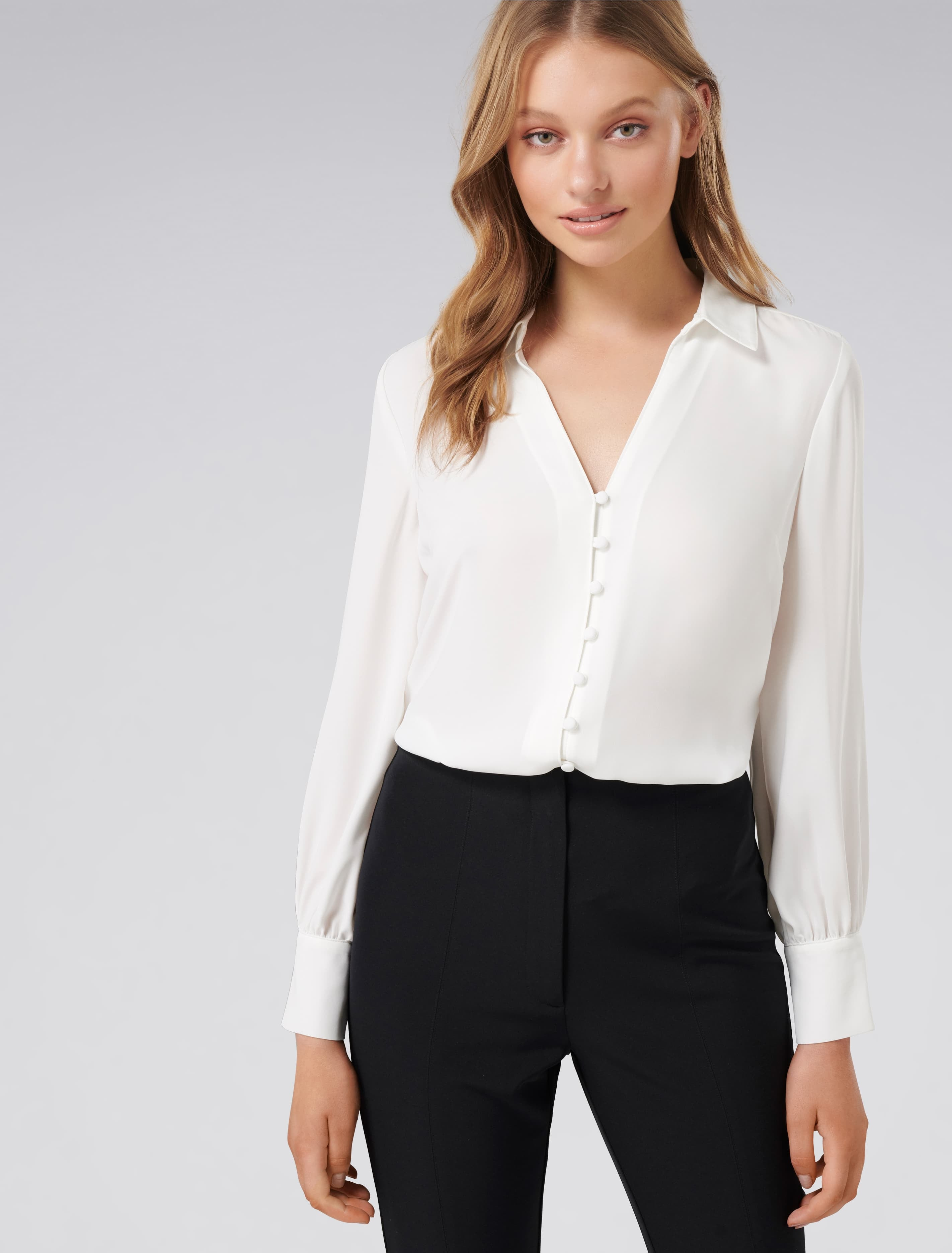 Ever New Larissa Button Front Relaxed Blouse