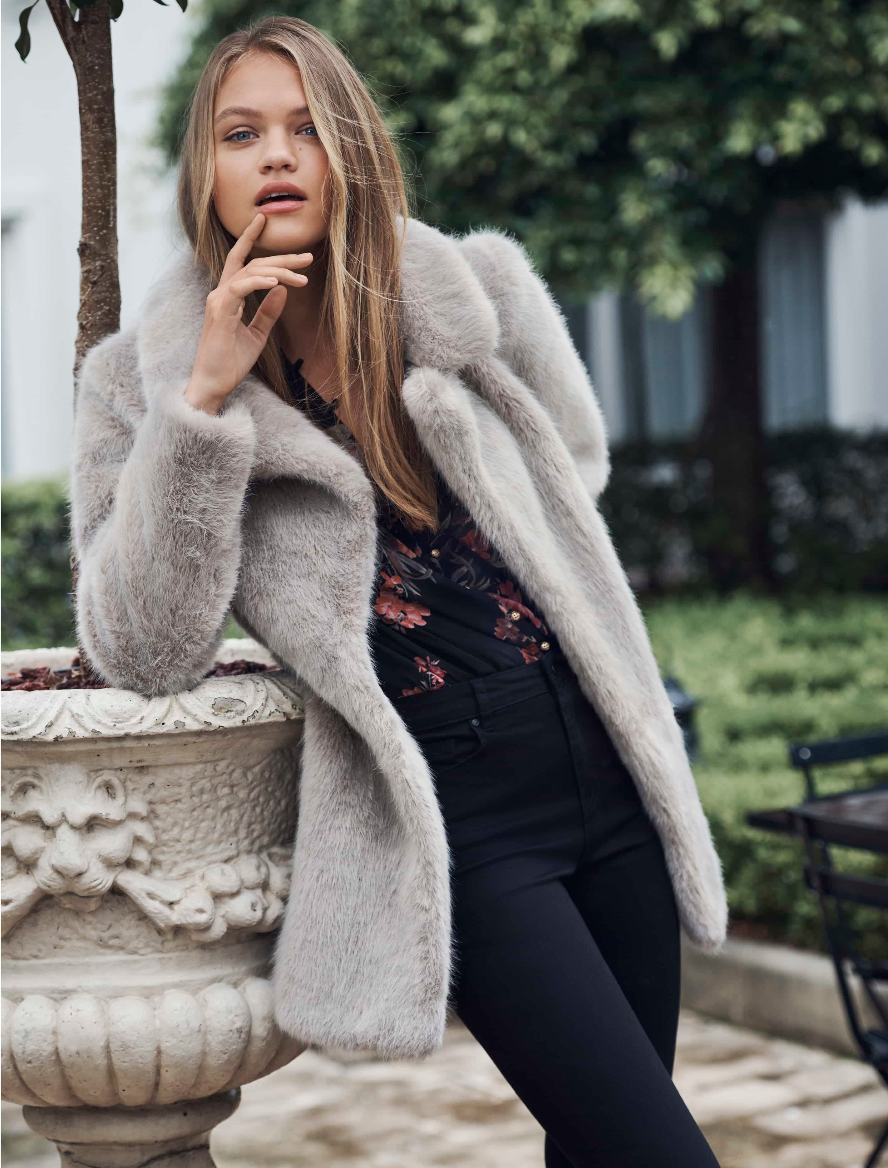 Ever New Lilly Faux Fur Coat