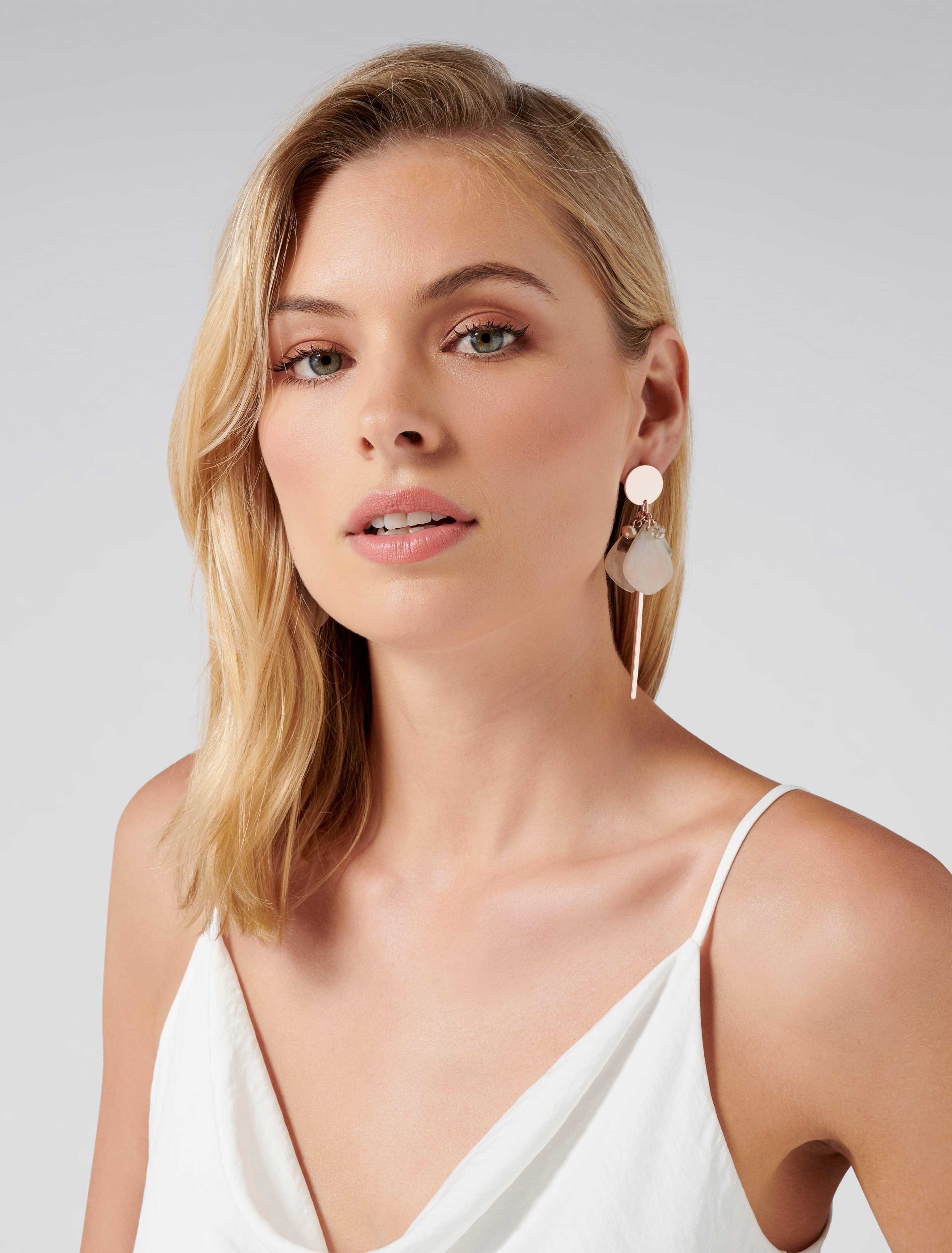 Ever New Aubree Jingle Bead Geometric Drop Earrings - Neutral