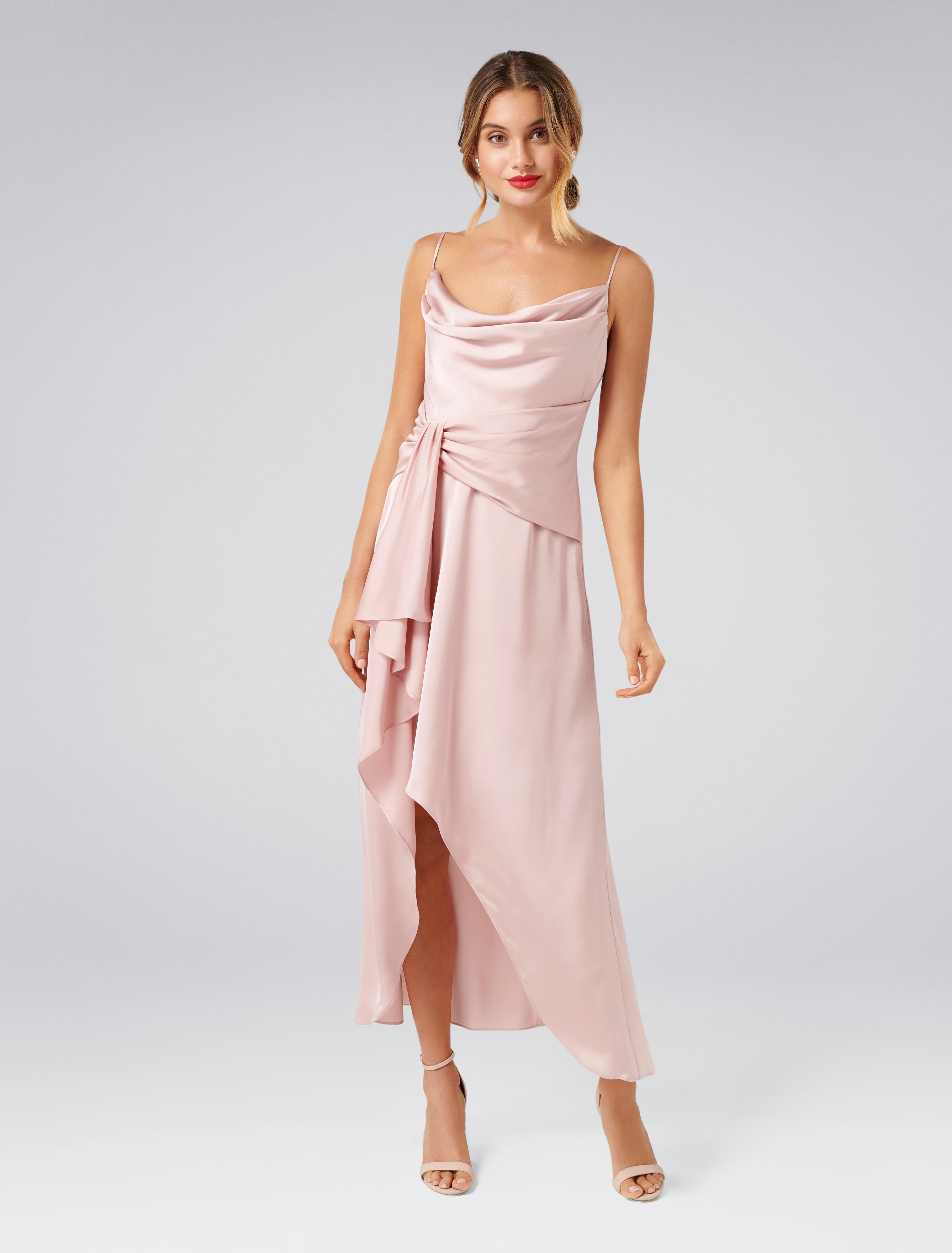 Vintage 1920s Dresses – Where to Buy Dove Cowl Neck Wrap Dress - Pink - 12 $119.95 AT vintagedancer.com