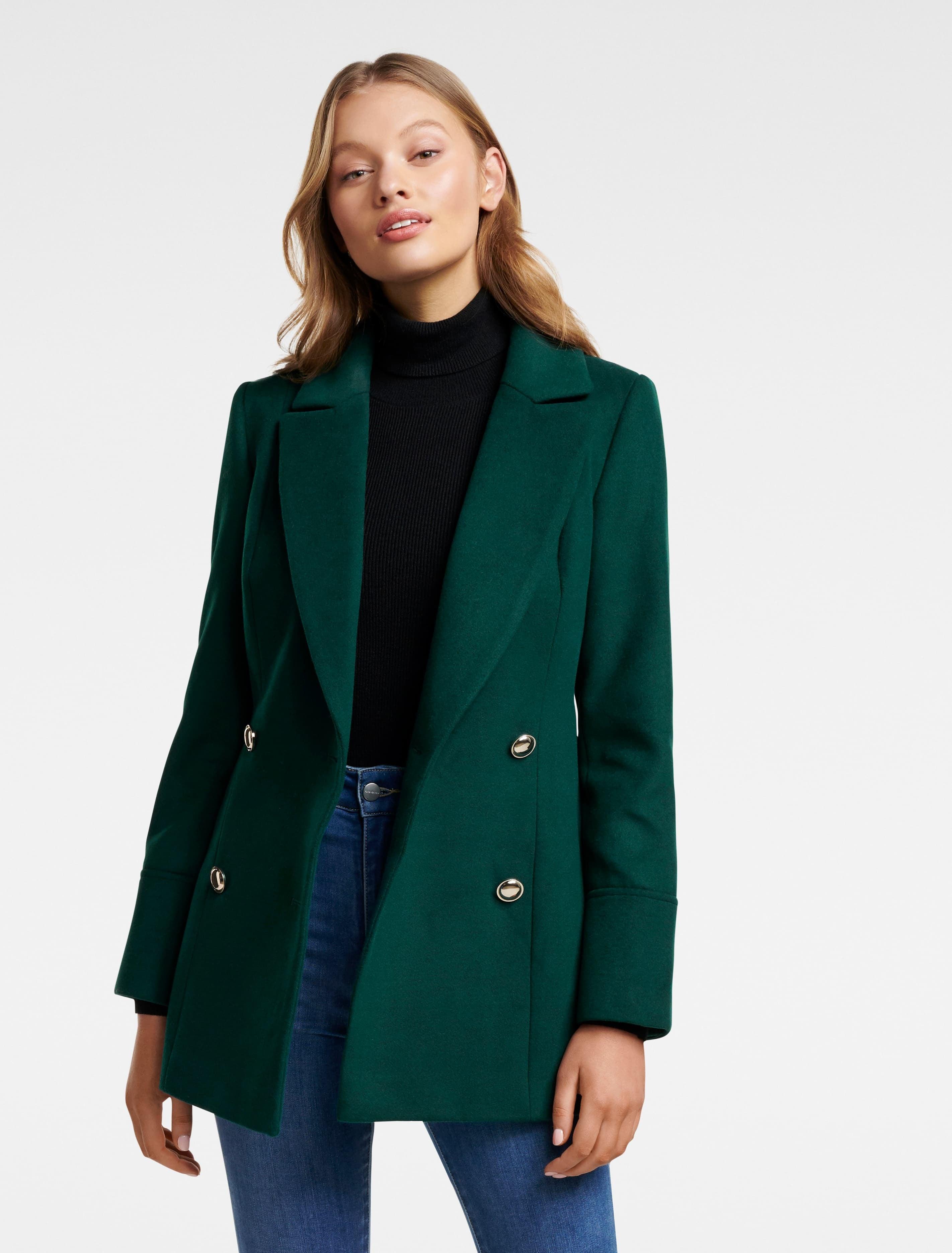 70s Jackets, Furs, Vests, Ponchos Nina Wrap Coat - Green - 6 $49.95 AT vintagedancer.com