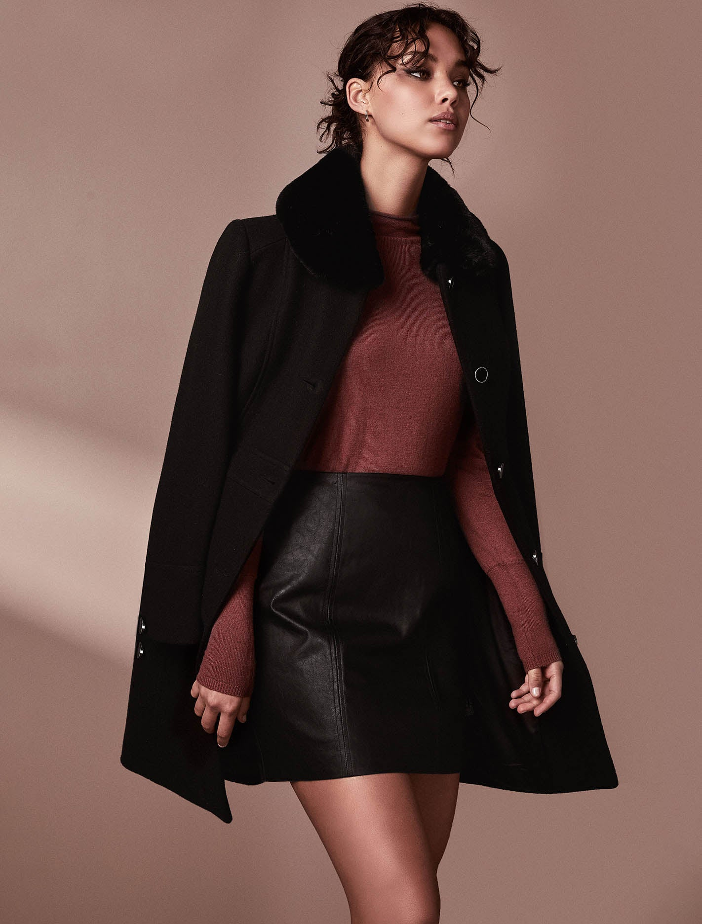 Ever New Linda Dolly Coat - Black