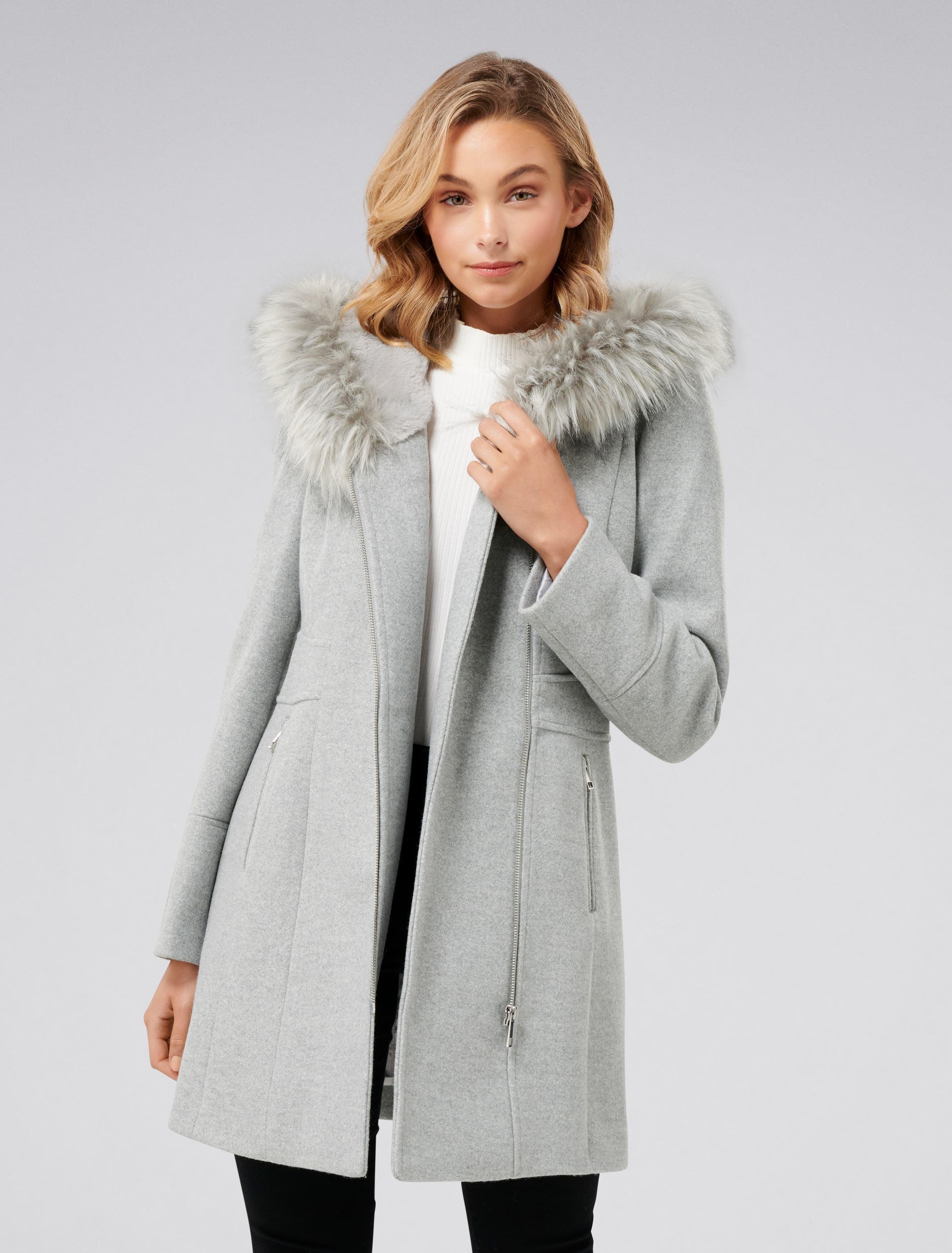 Ever New Prue Hooded Coat - Grey Marle