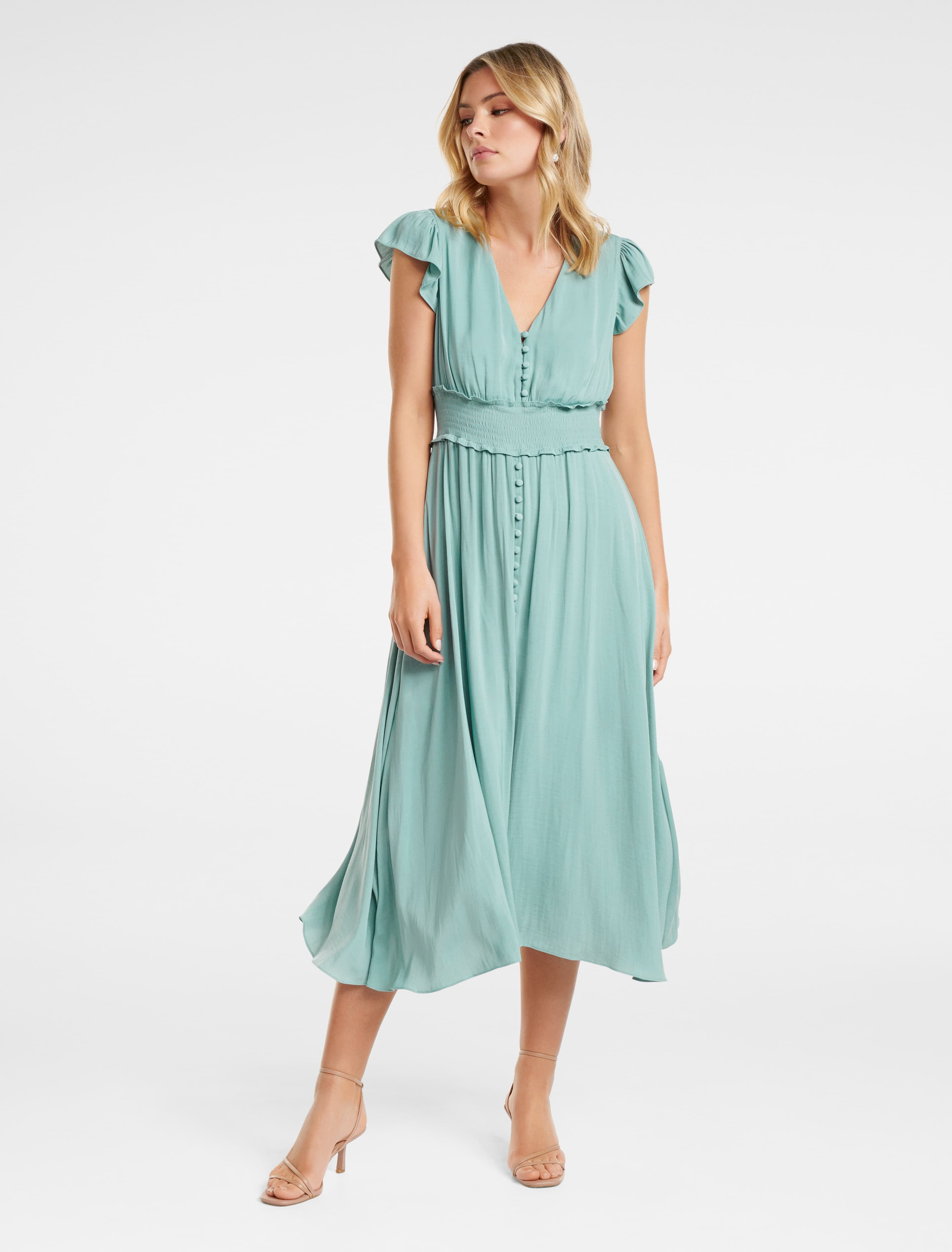 Ever New Amayah Button Front Midi Dress