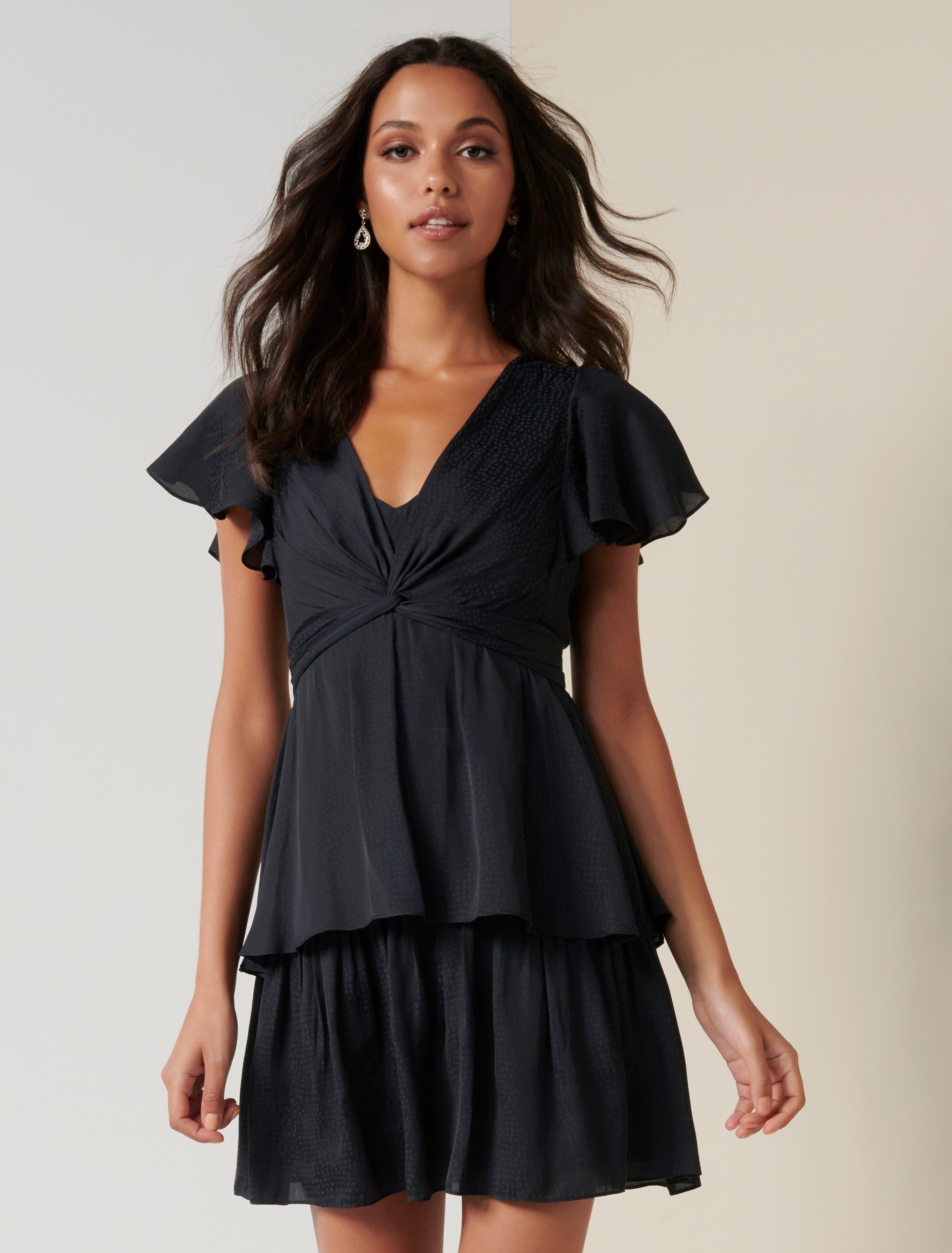 Ever New Siska Twist Front Mini Dress