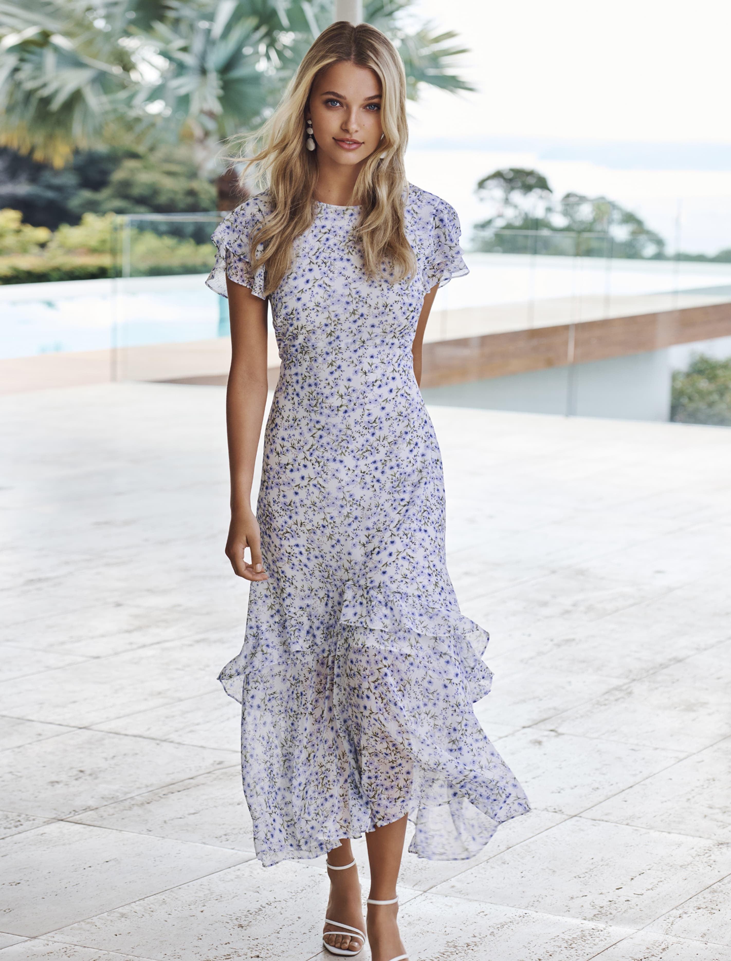 Ever New Josephine Flutter Sleeve Maxi Dress