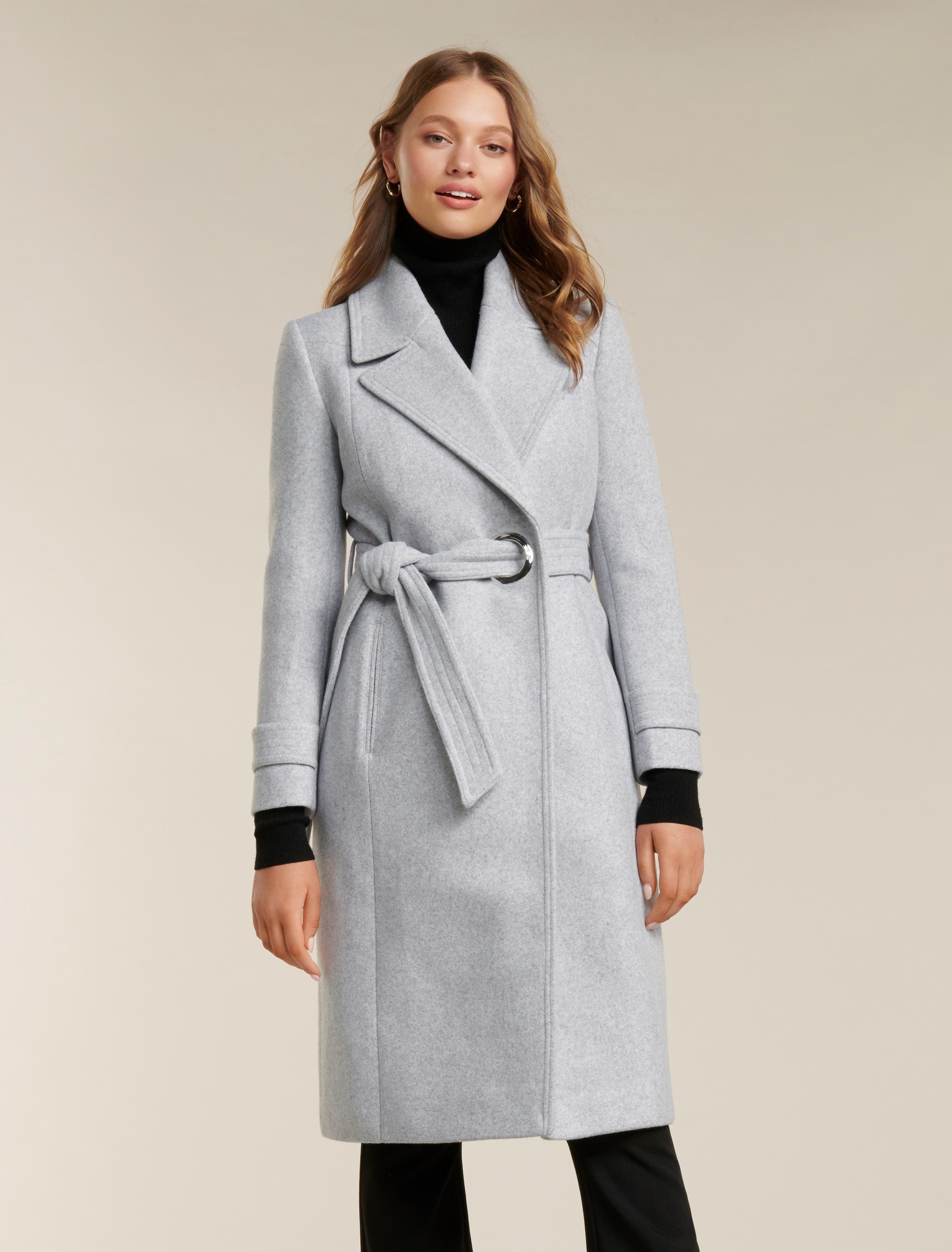Ever New Ali Wrap Coat - Grey Marle