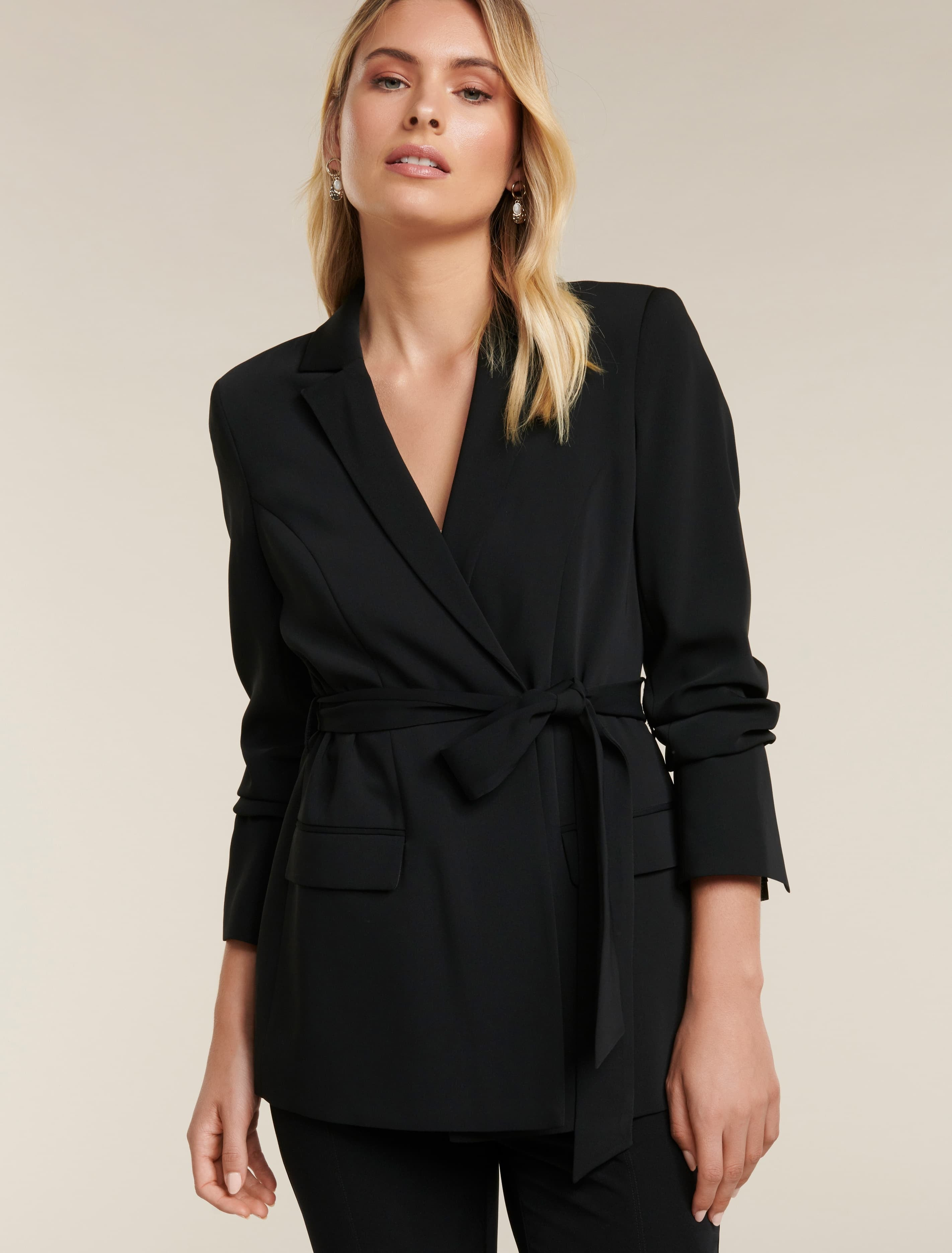 Ever New Zoe Wrap Blazer - Black
