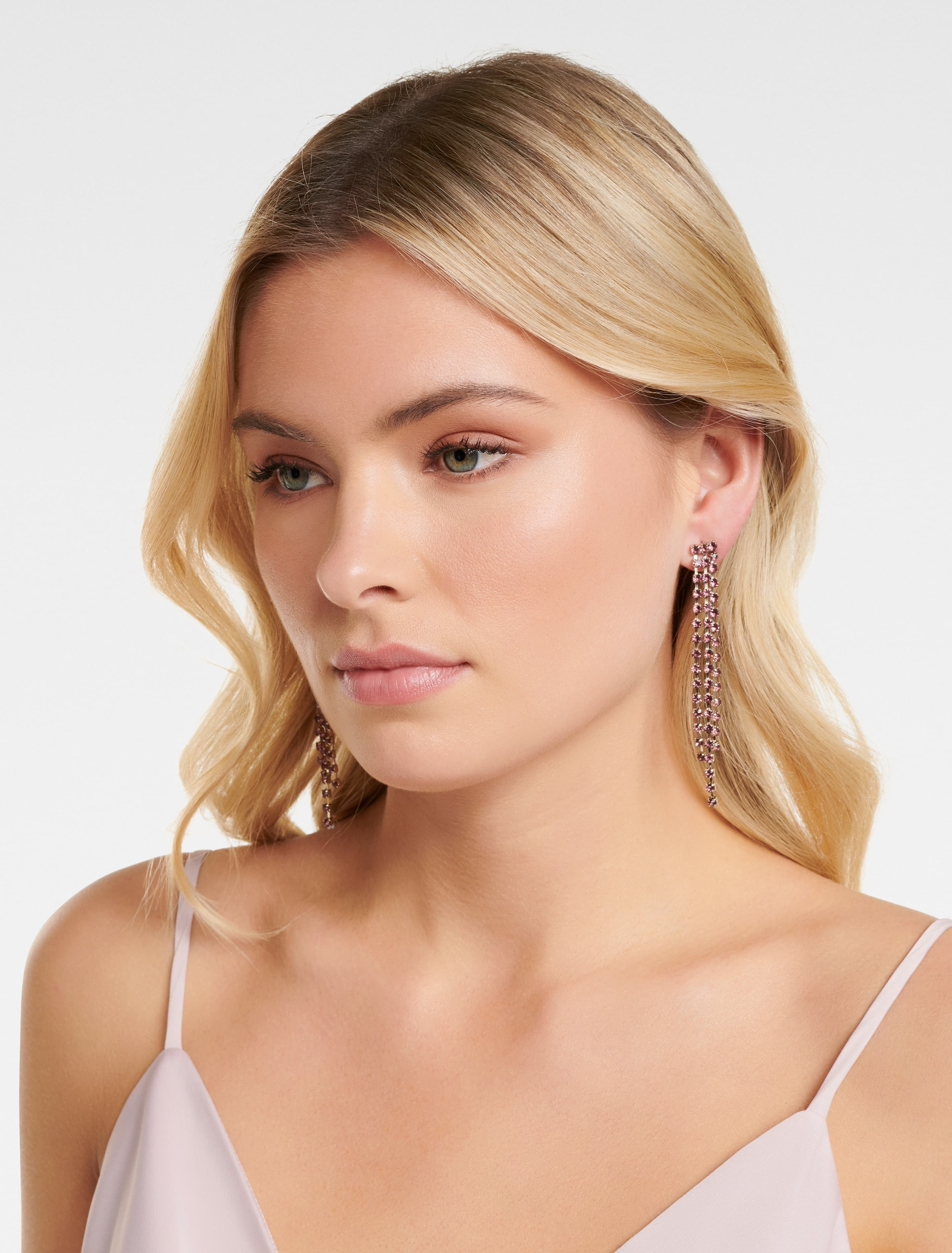 Ever New NORMA TRIPPLE CUPCHAIN DROP EARRING - Pink