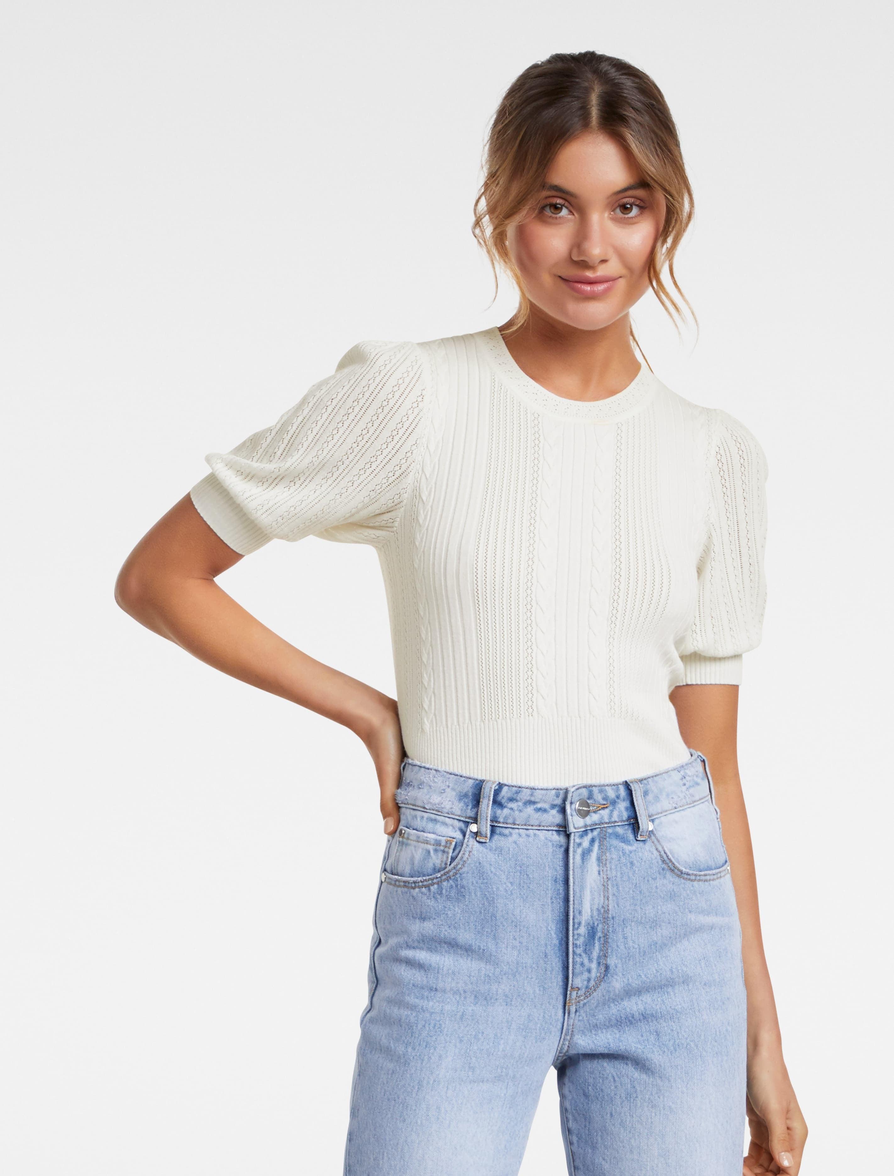 Ever New Gigi Short Sleeve Knit Tee