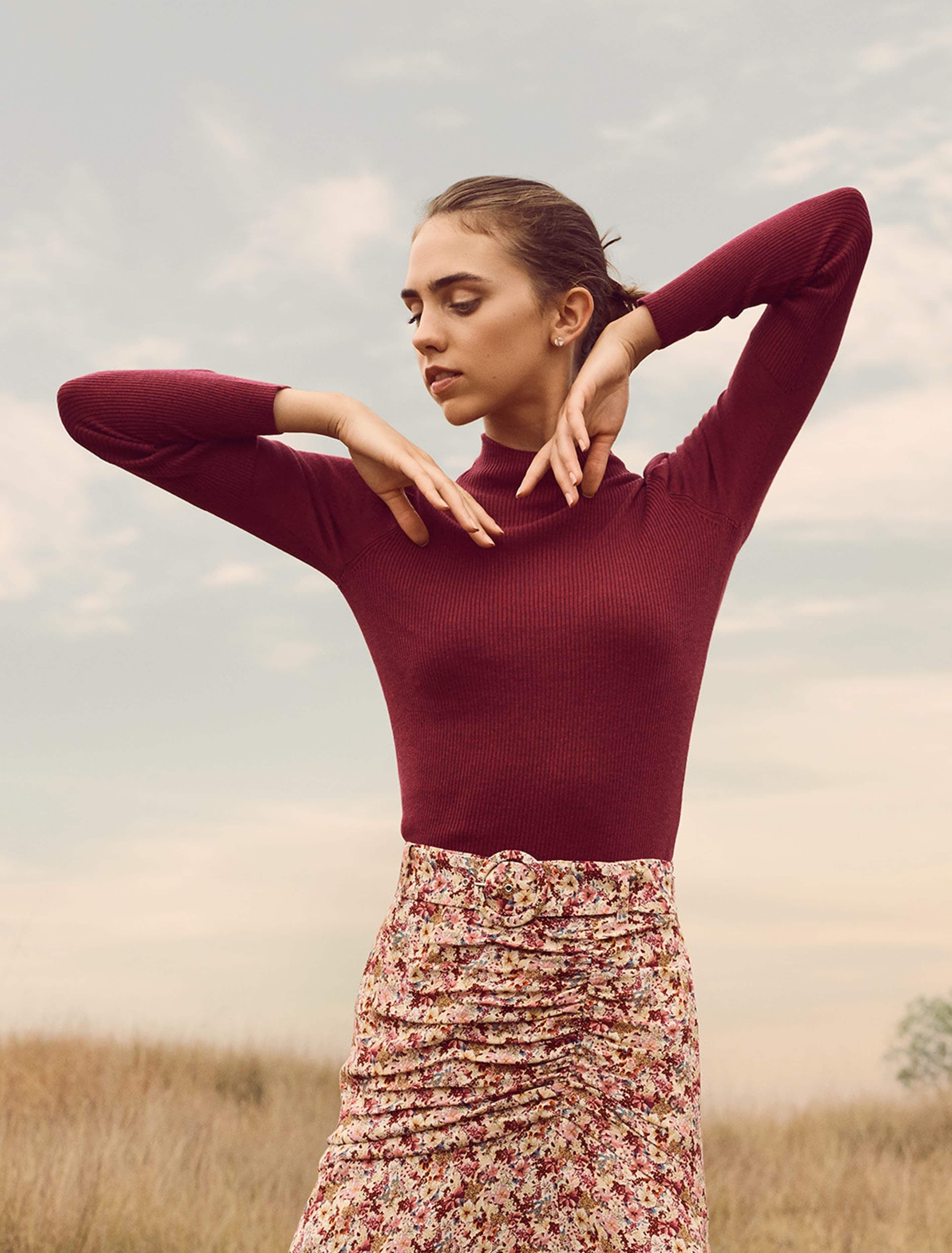 Ever New Kiri Puff Sleeve Layering Jumper - Enchanted