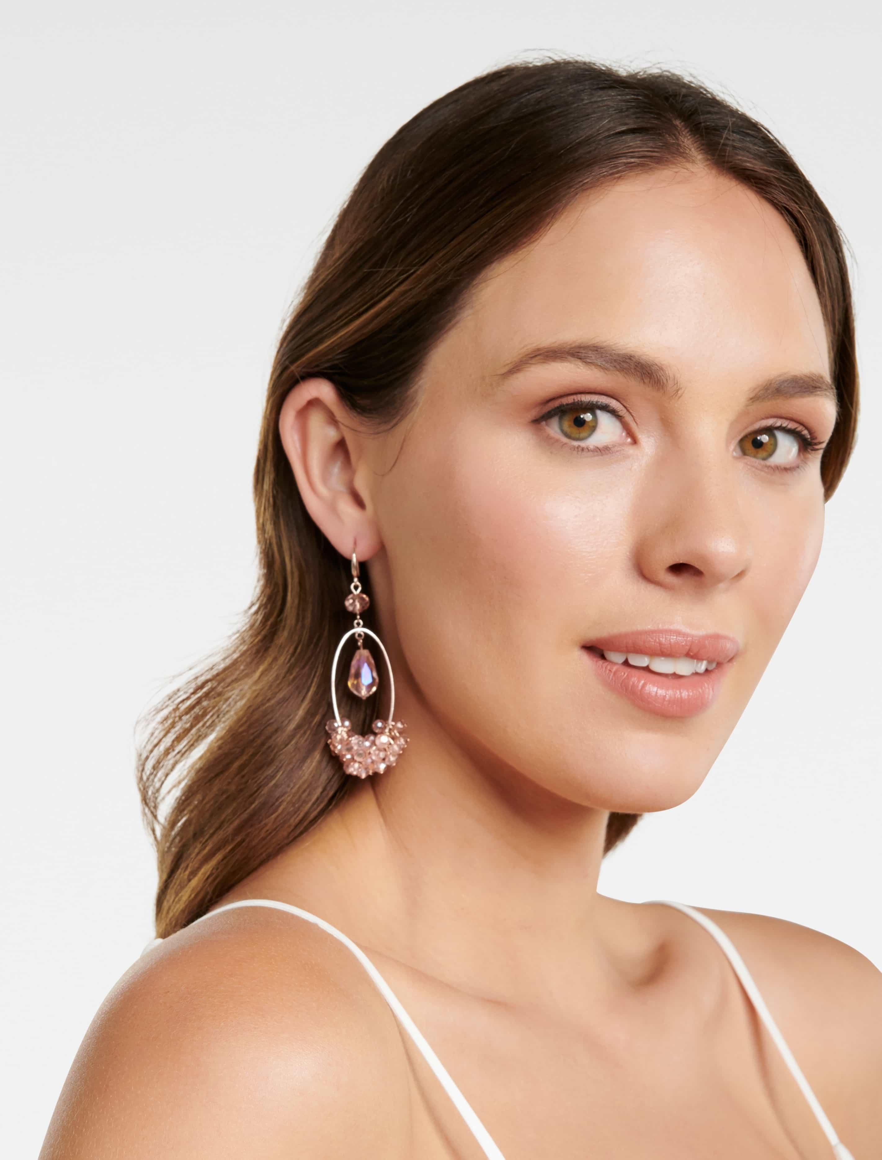 Ever New Jenny Beaded Drop Earrings - Pink