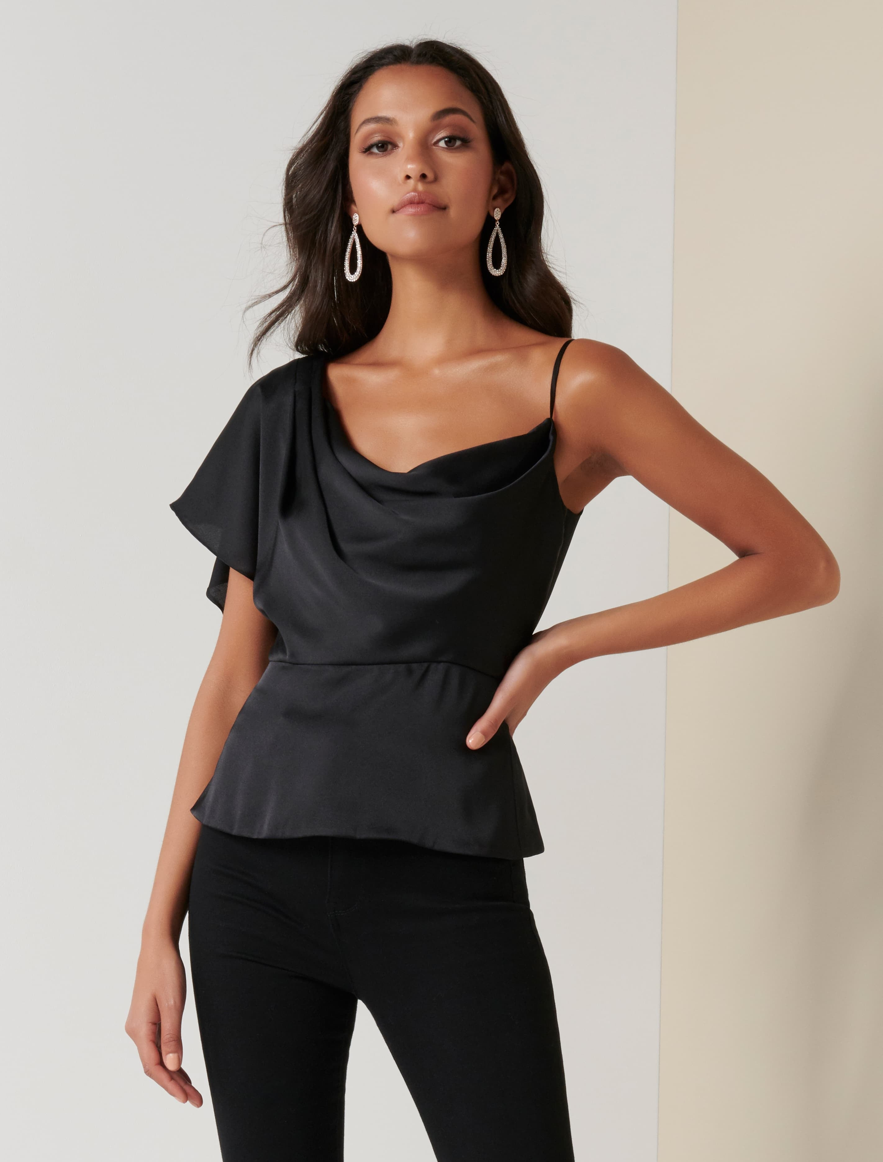 Ever New Danielle One Shoulder Satin Top