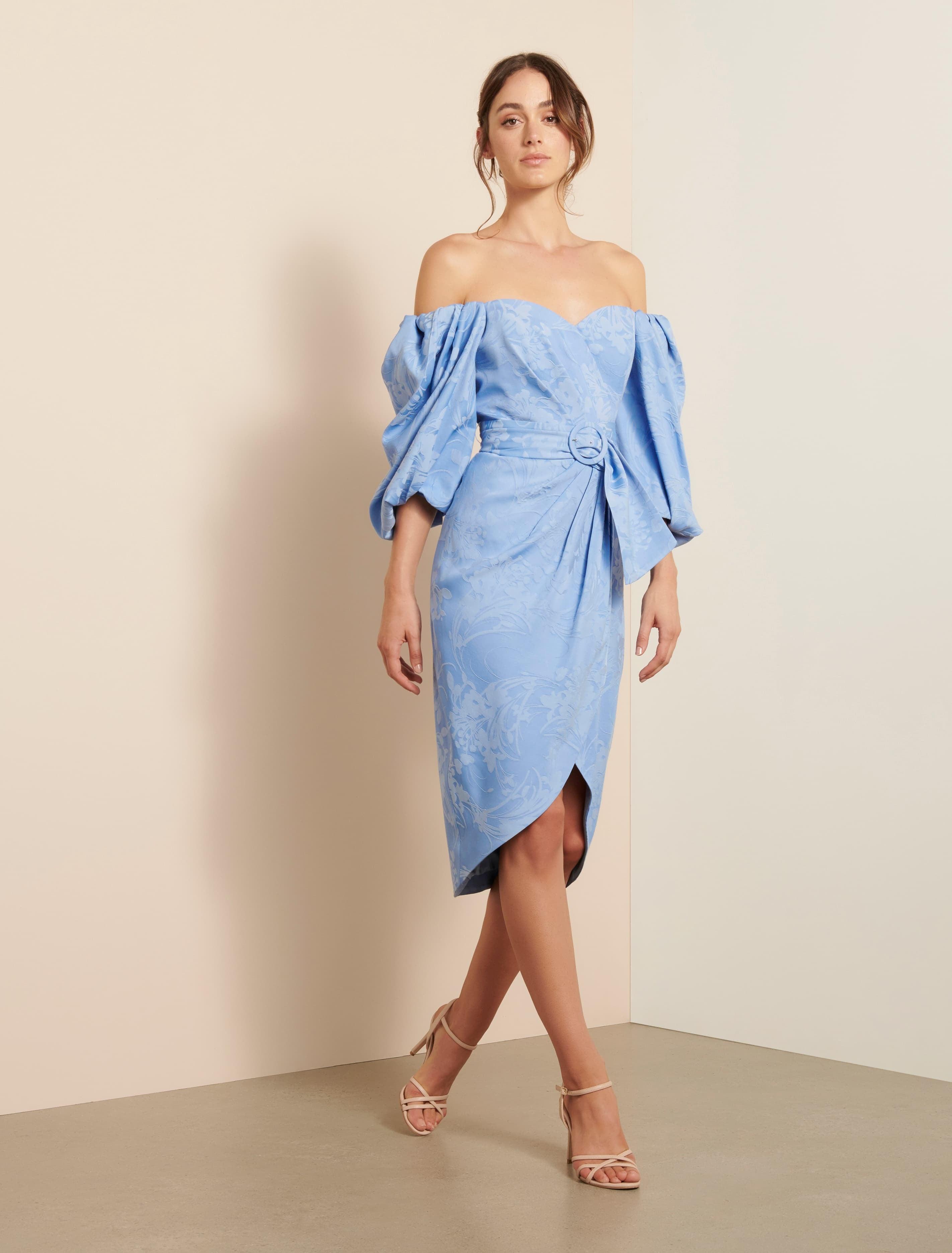 Ever New Elmira Puff Sleeve Midi Dress