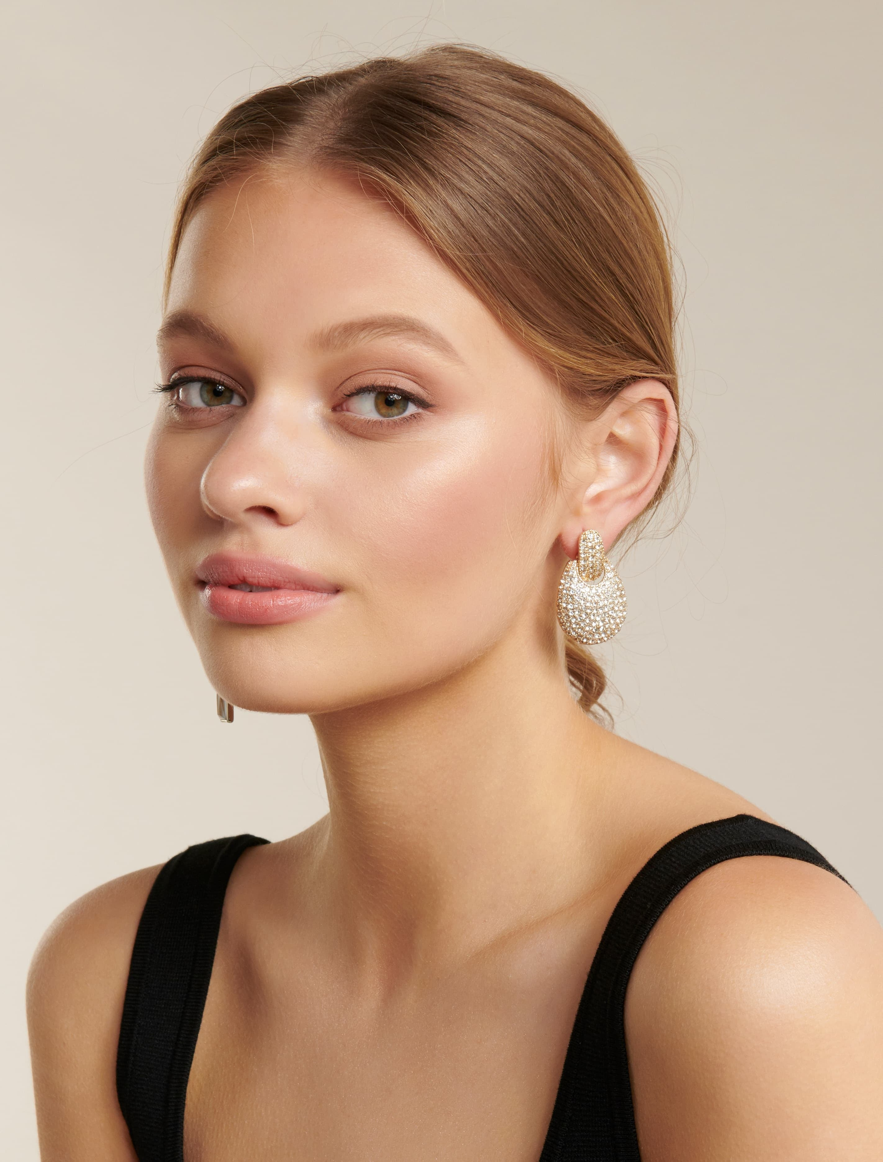 Ever New Hazel Pave Statement Stud Earring - Gold
