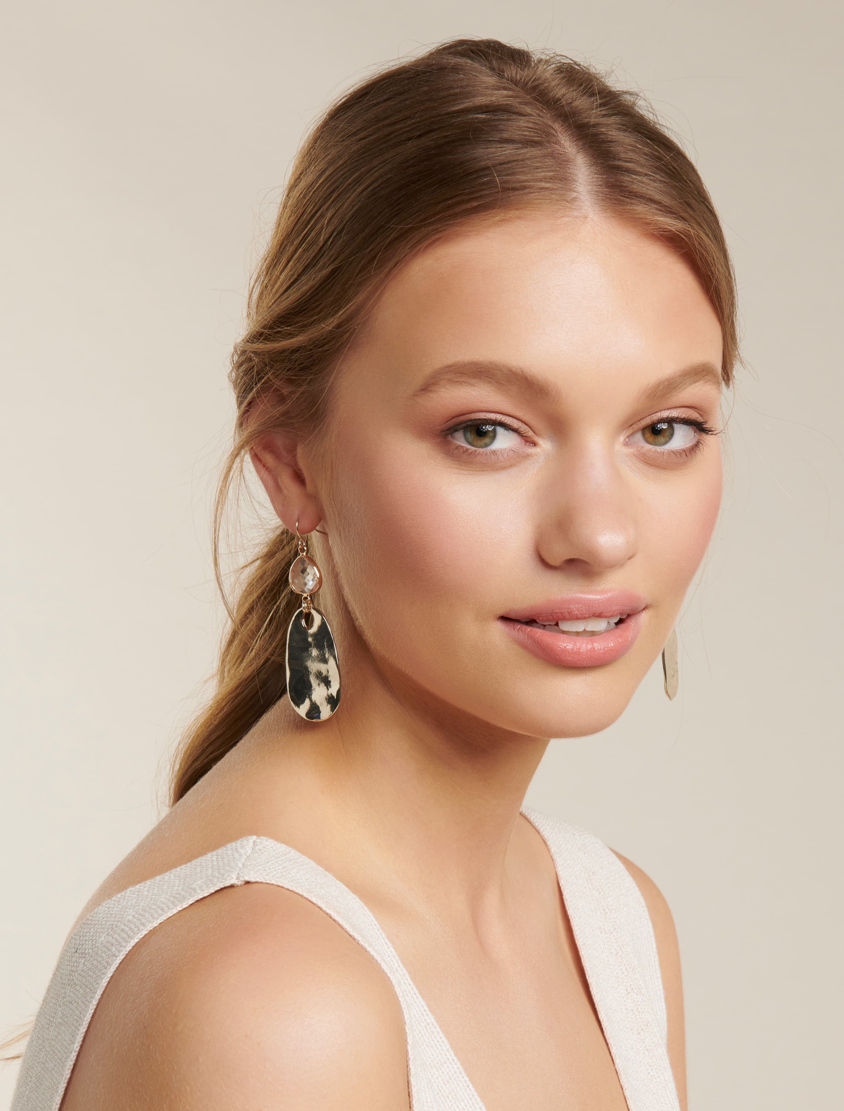 Ever New Grainne Clear Stone & Metal Drop - Gold