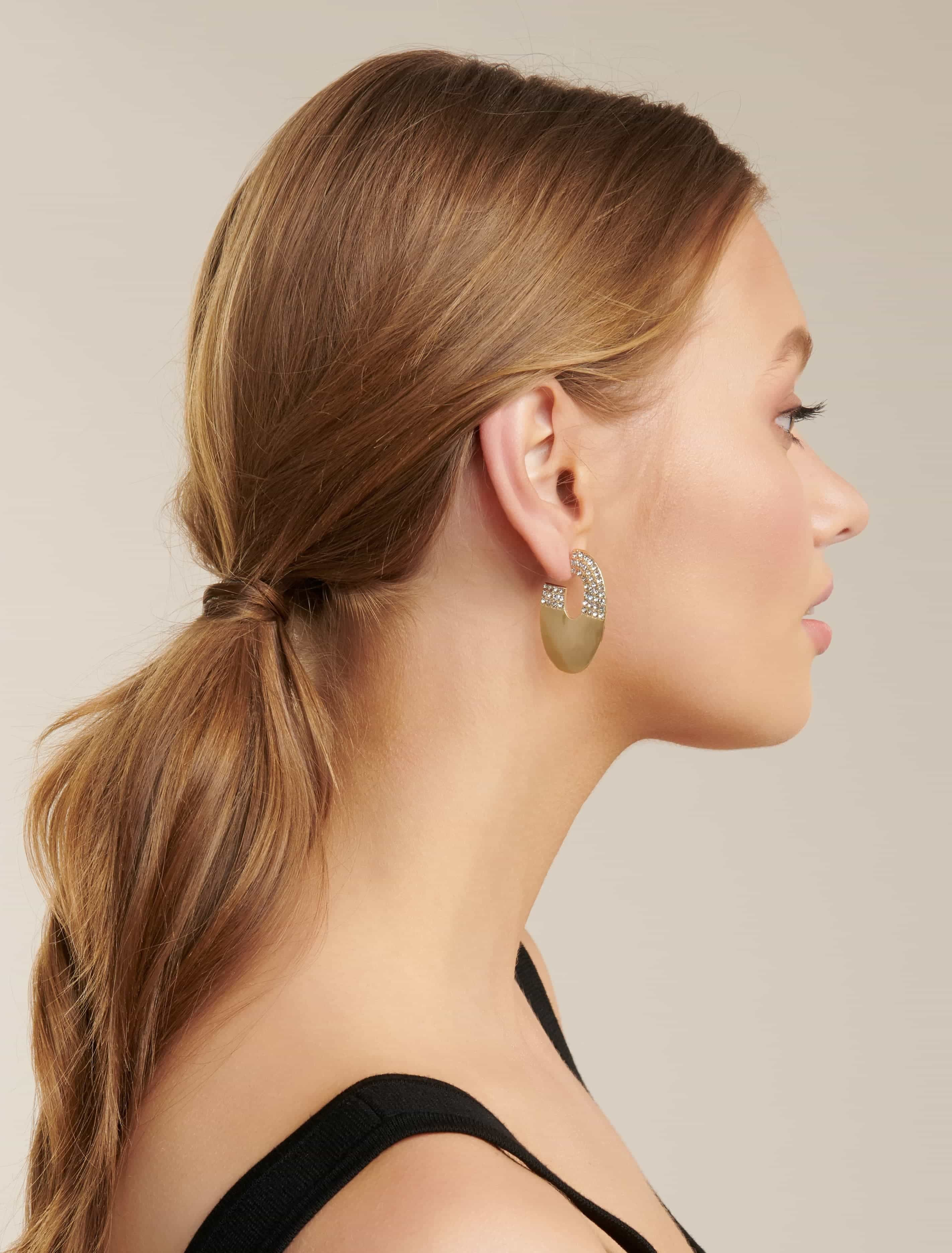 Ever New Aoibhe Dia Thick Hoop Earring - Gold