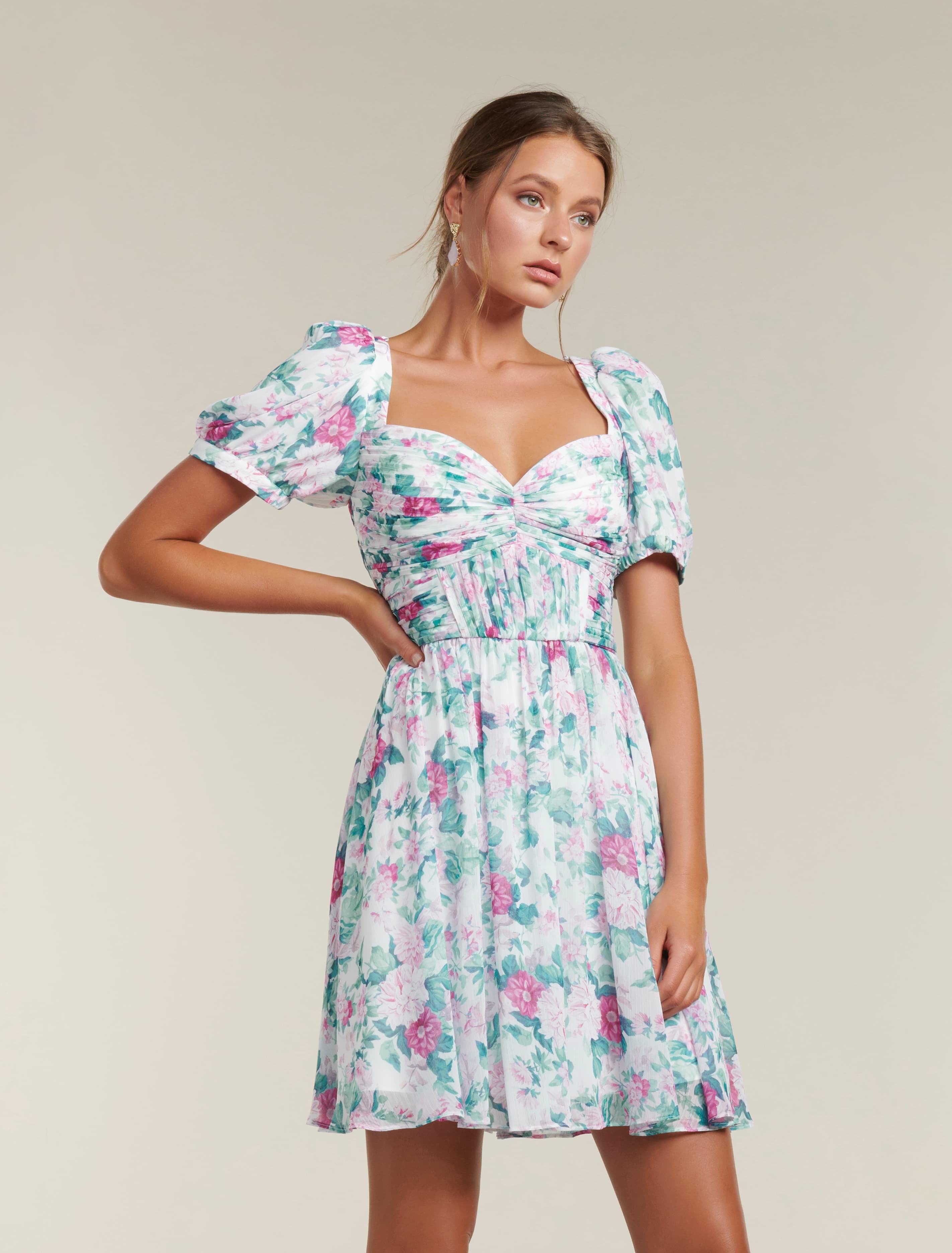 Ever New Maya Pleated Mini Dress