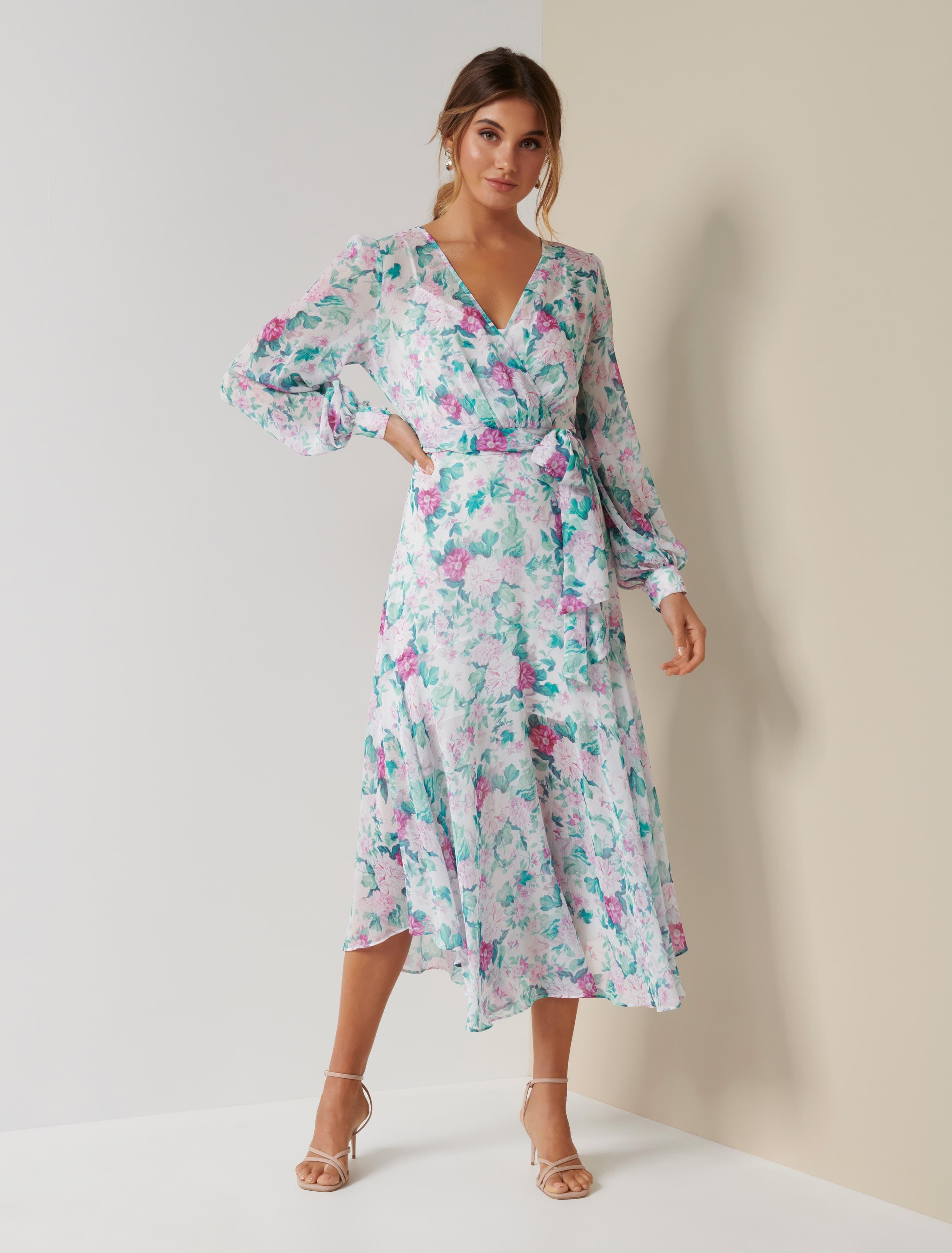 Ever New Gloria Wrap Midi Dress