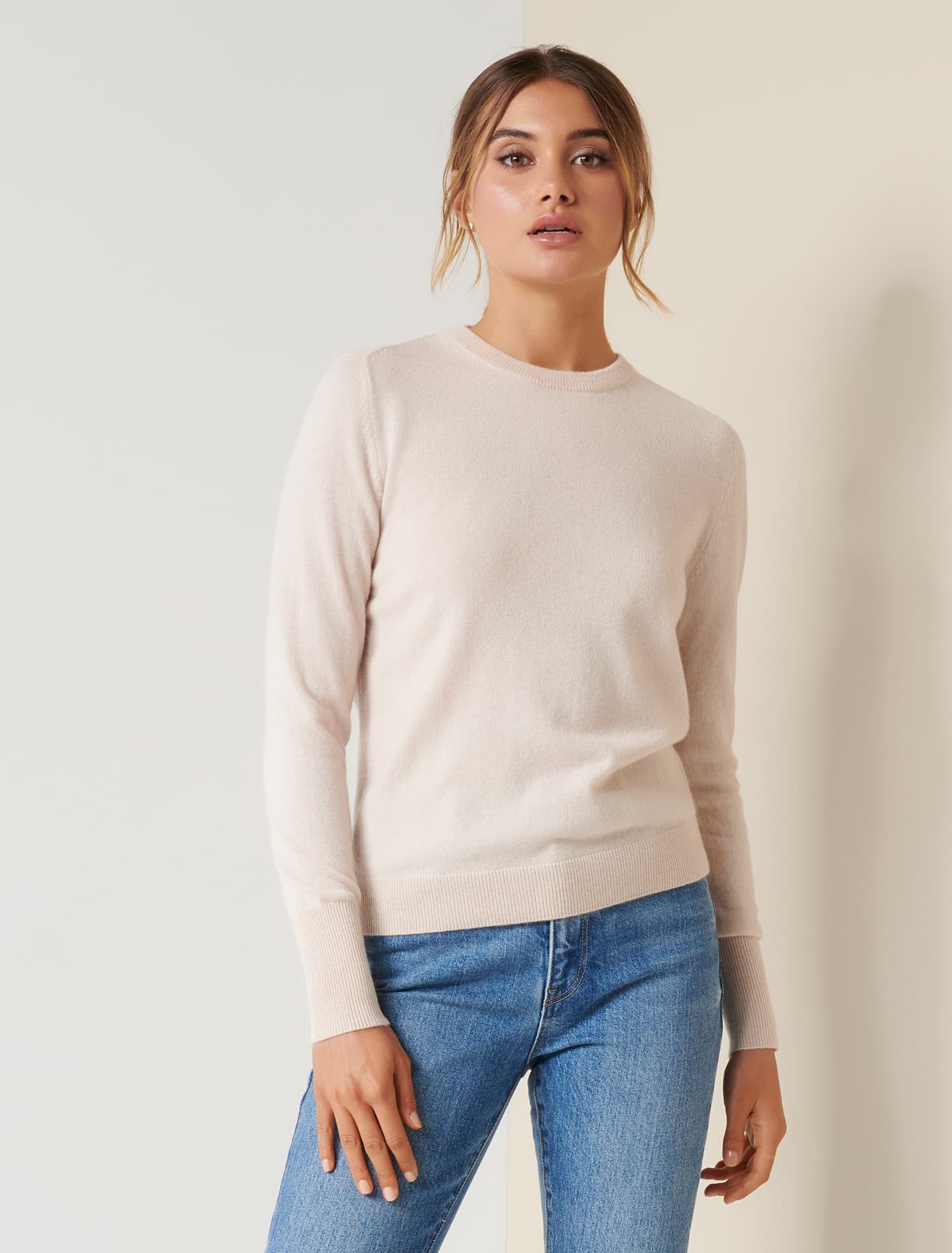 Ever New Sonia Cashmere Jumper - Soft Oatmeal