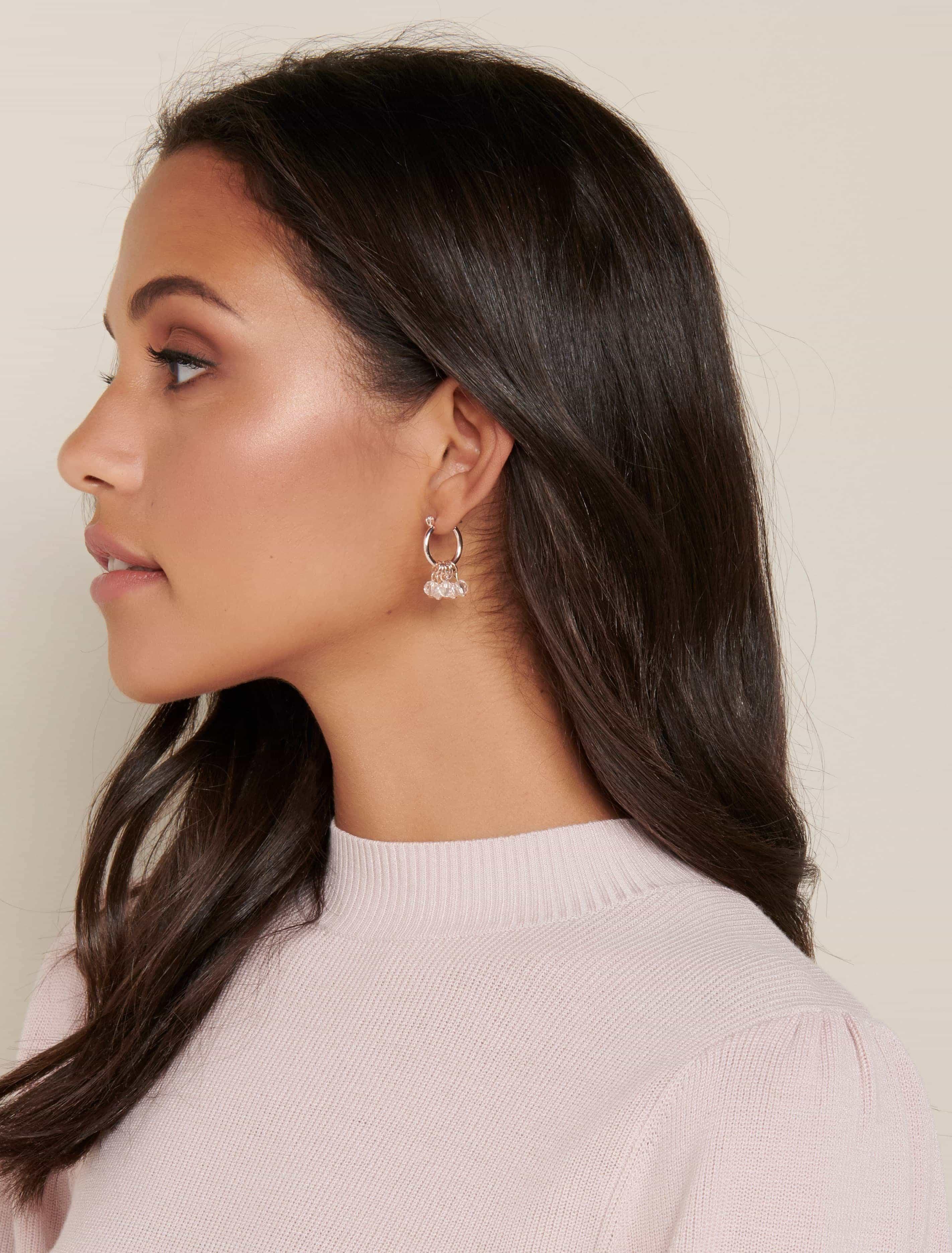 Ever New Pippa Bead Huggie Hoop Earrings - Rose Gold