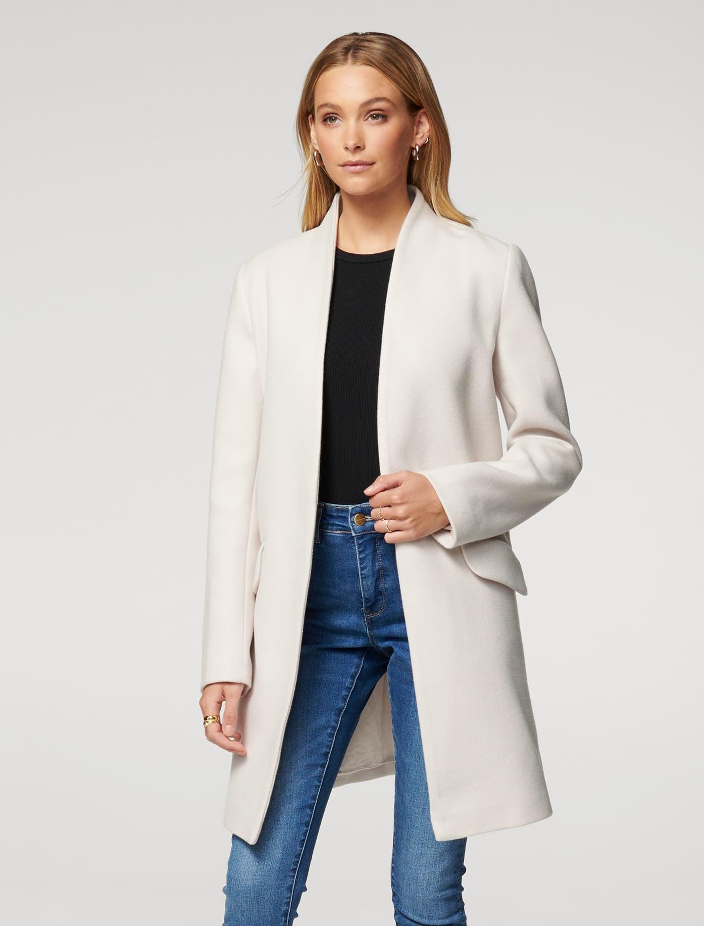 Ever New Alison Cocoon Coat - Cream