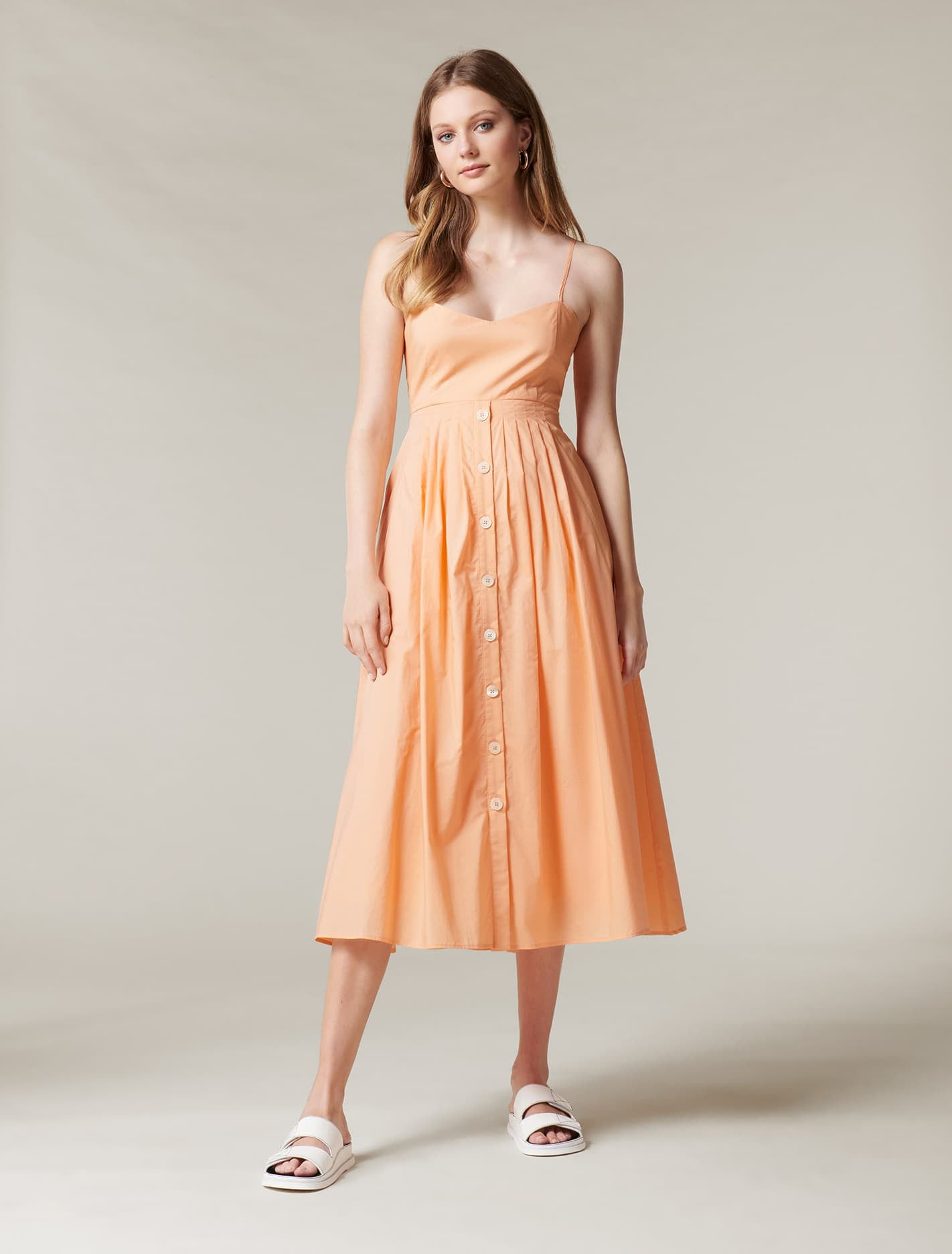 Ever New Jada Cut Away Midi Dress - Vivid Shell