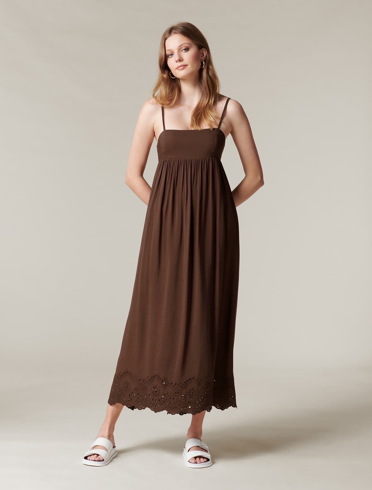 Ever New Spencer Cutwork House Dress - Dark Dove