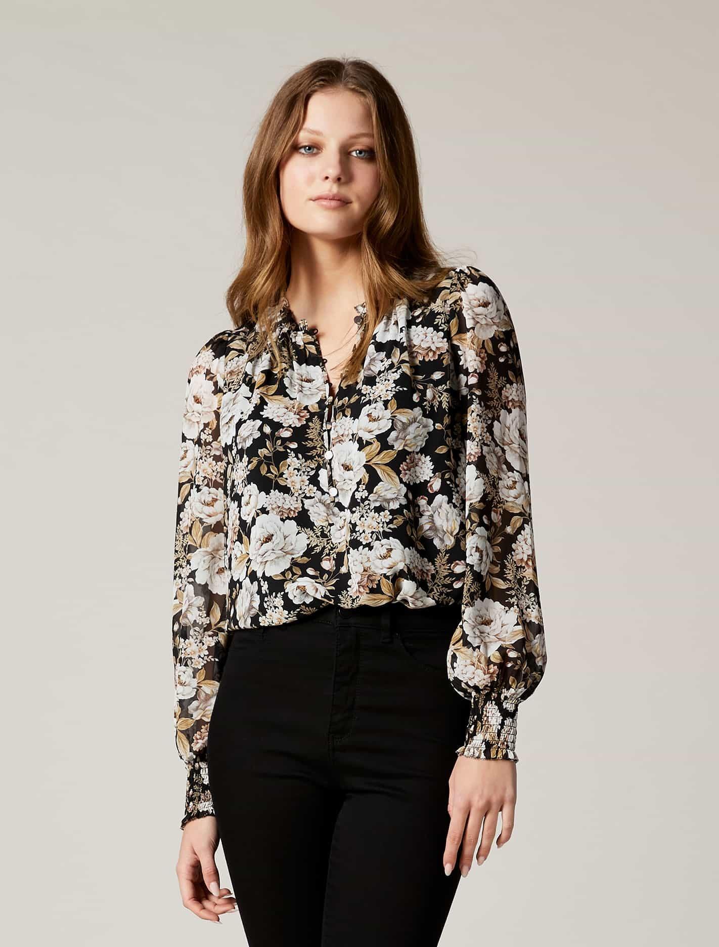 Ever New Sara Boho Blouse - Blackburn Floral
