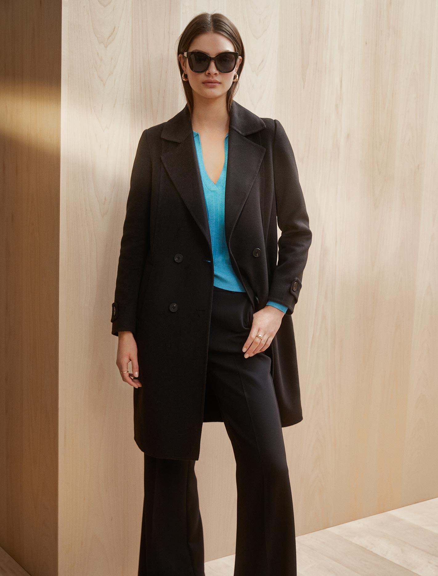 Ever New Jane Felled Coat - Black