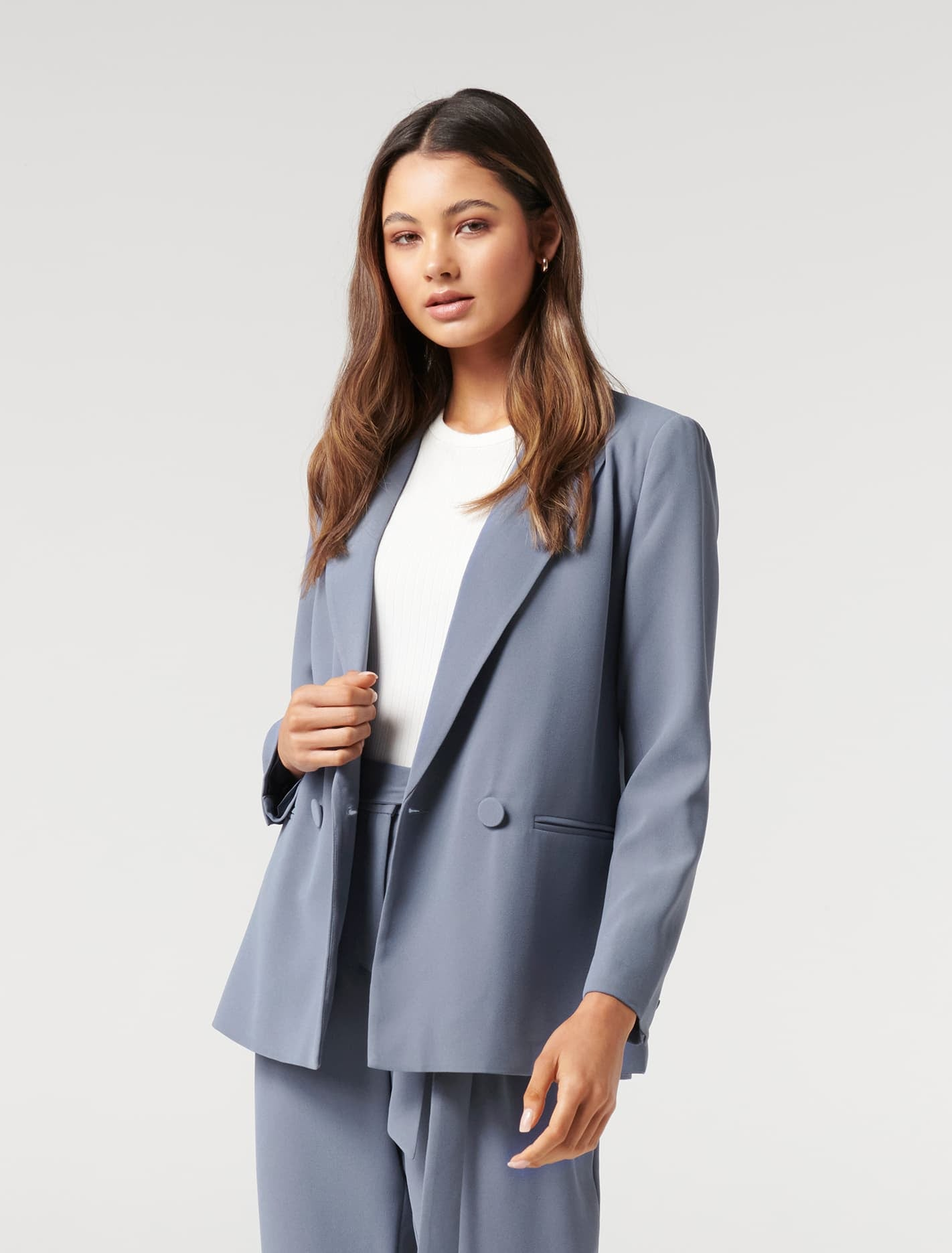 Ever New Penny Petite Oversized Blazer - Workwear Blue