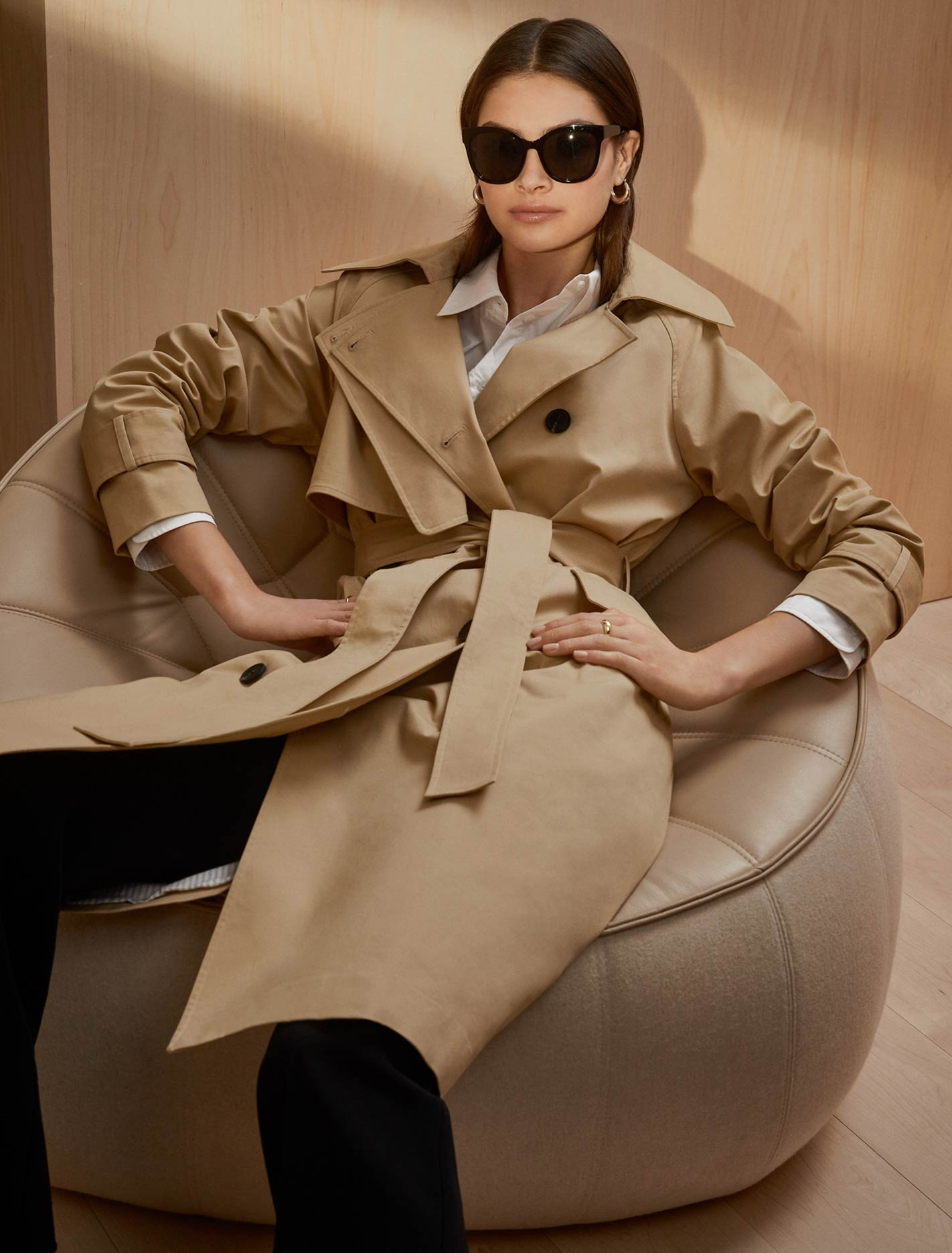 Ever New Frankie Trench Jacket - Camel