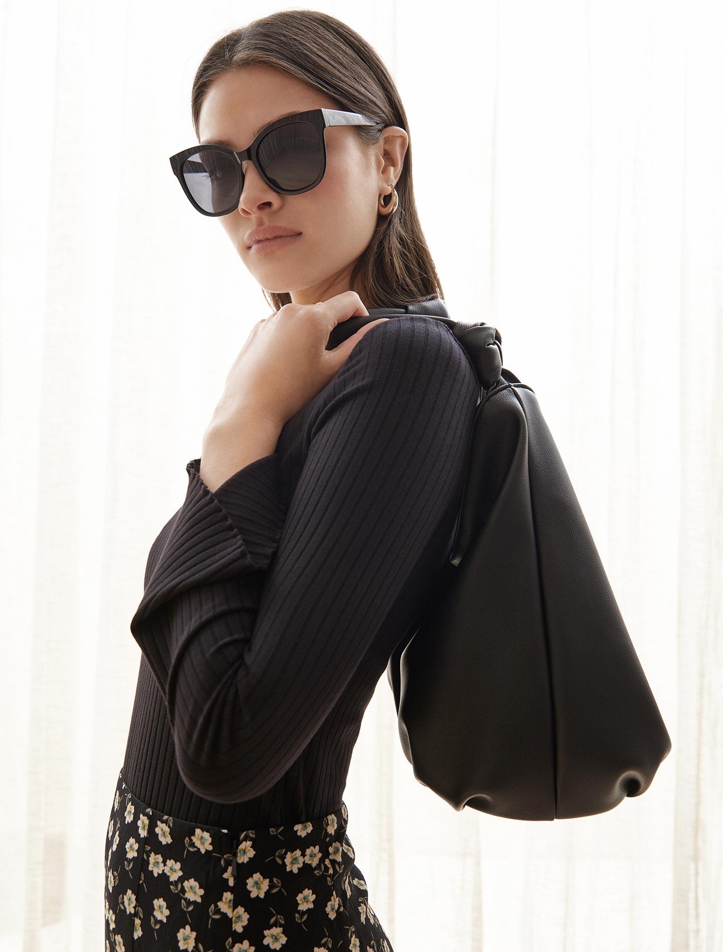 Ever New Sofia Flare Sleeve Top - Black