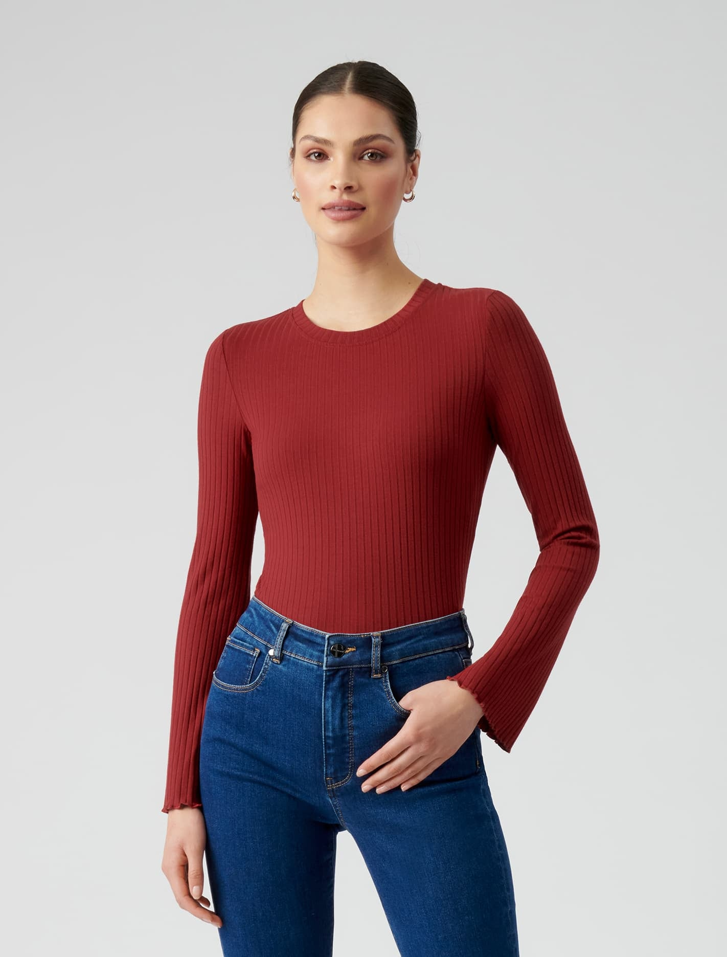 Ever New Sofia Flare Sleeve Top - Red