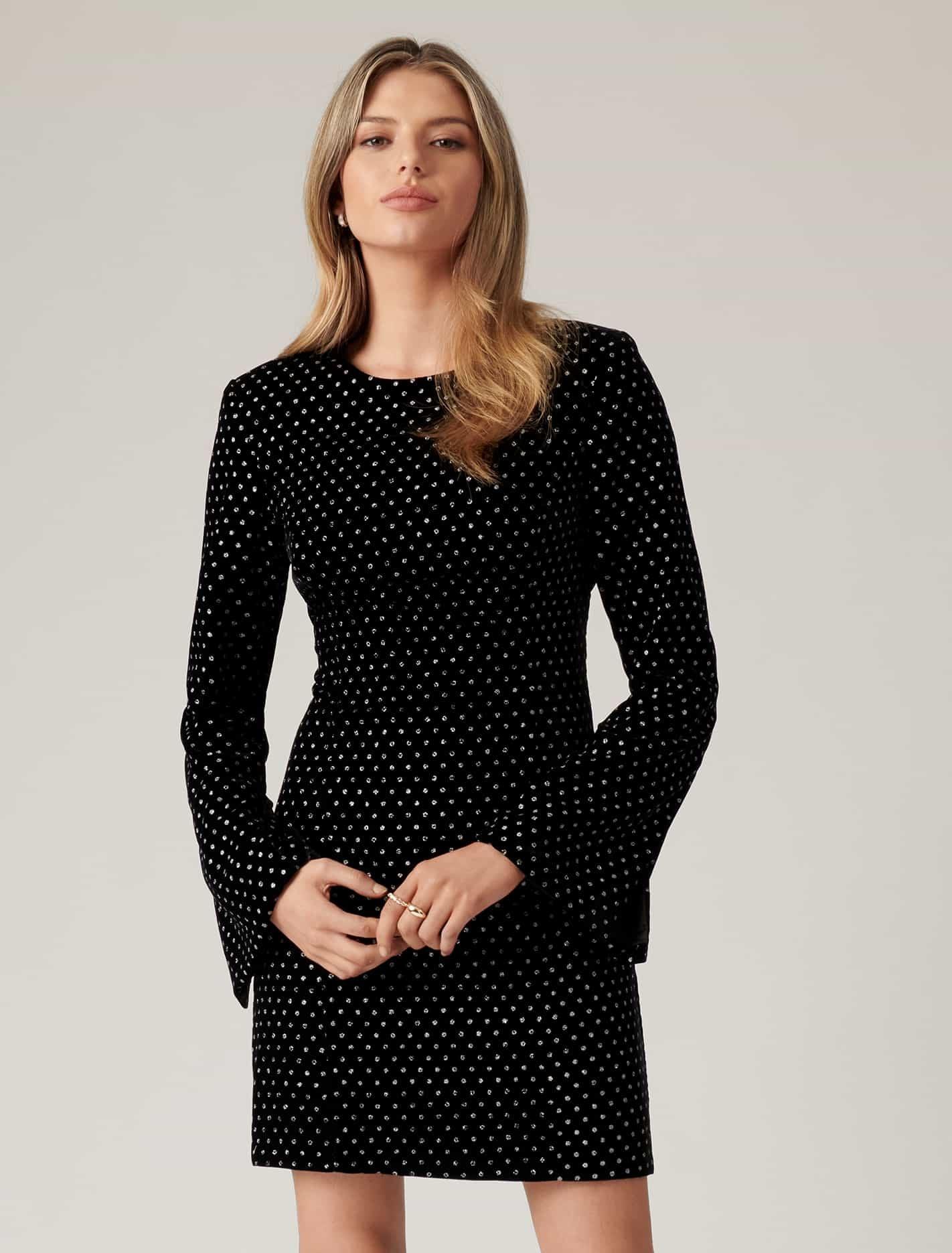 Ever New Tanya Spot Dress - Black