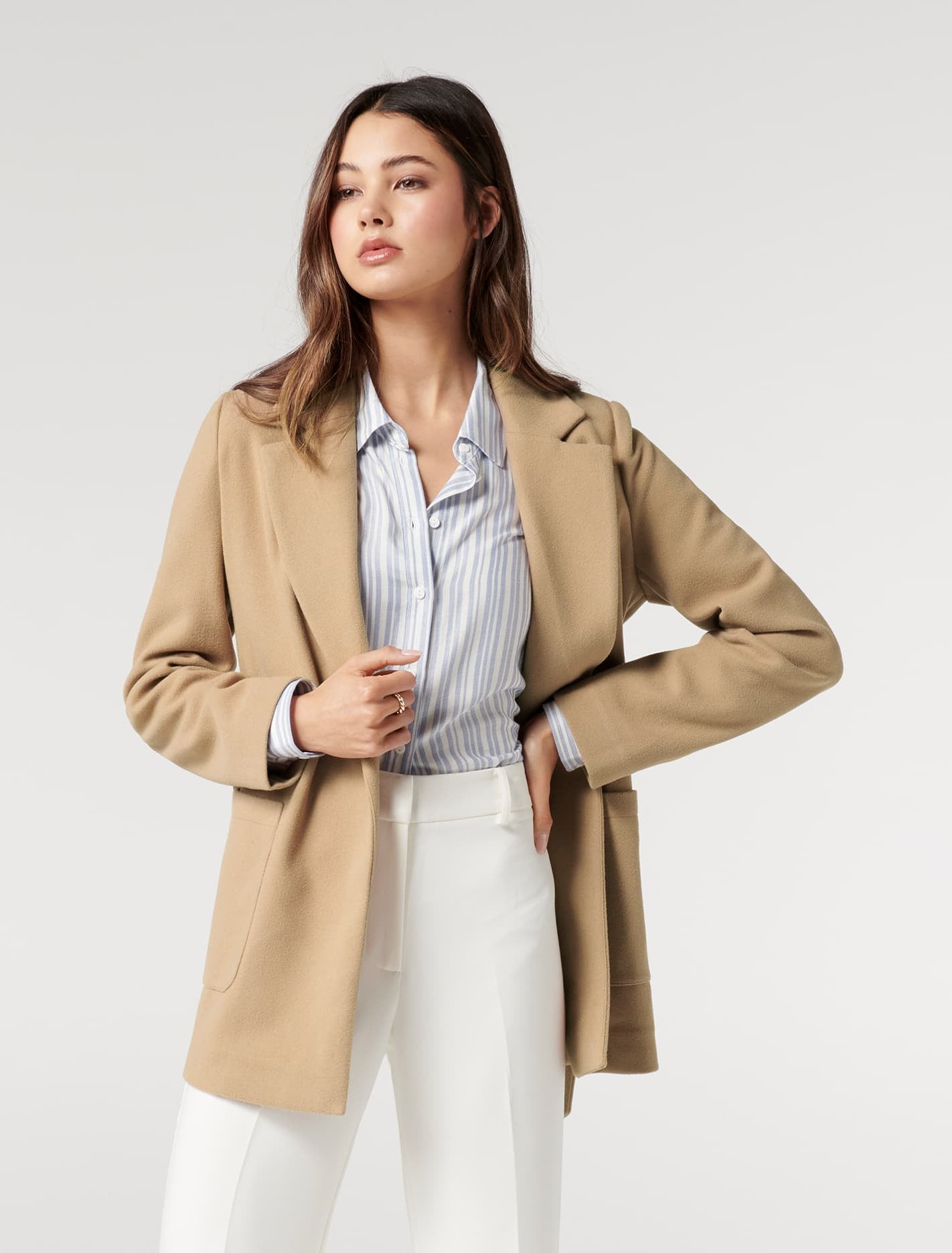 Ever New Laura Wrap Jacket - Classic Camel