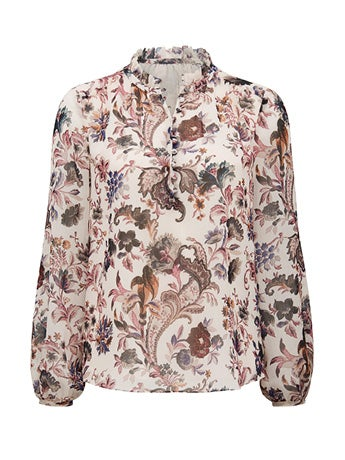 Jayde Open Placket Blouse