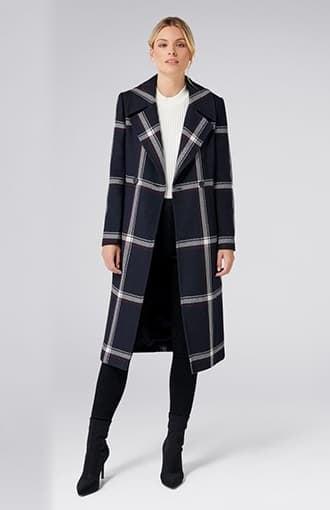 <b>Quinn</b><br />Check Coat
