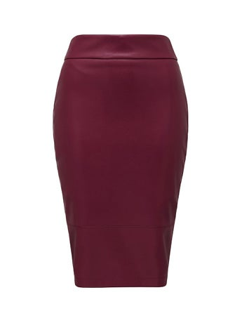 Amy PU Pencil Skirt