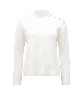 Rhiannon Button Shoulder Sweater