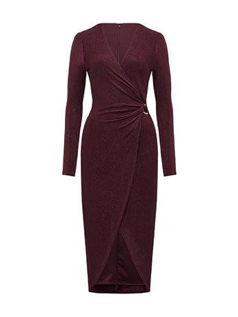 Effie Wrap O-Ring Jersey Dress