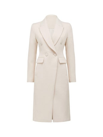 Tori Double-Breasted Crombie Coat