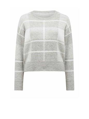 Savannah Check Sweater