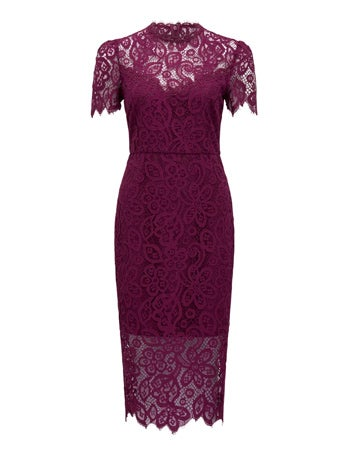 Jarrah Midi Lace Pencil Skirt Dress